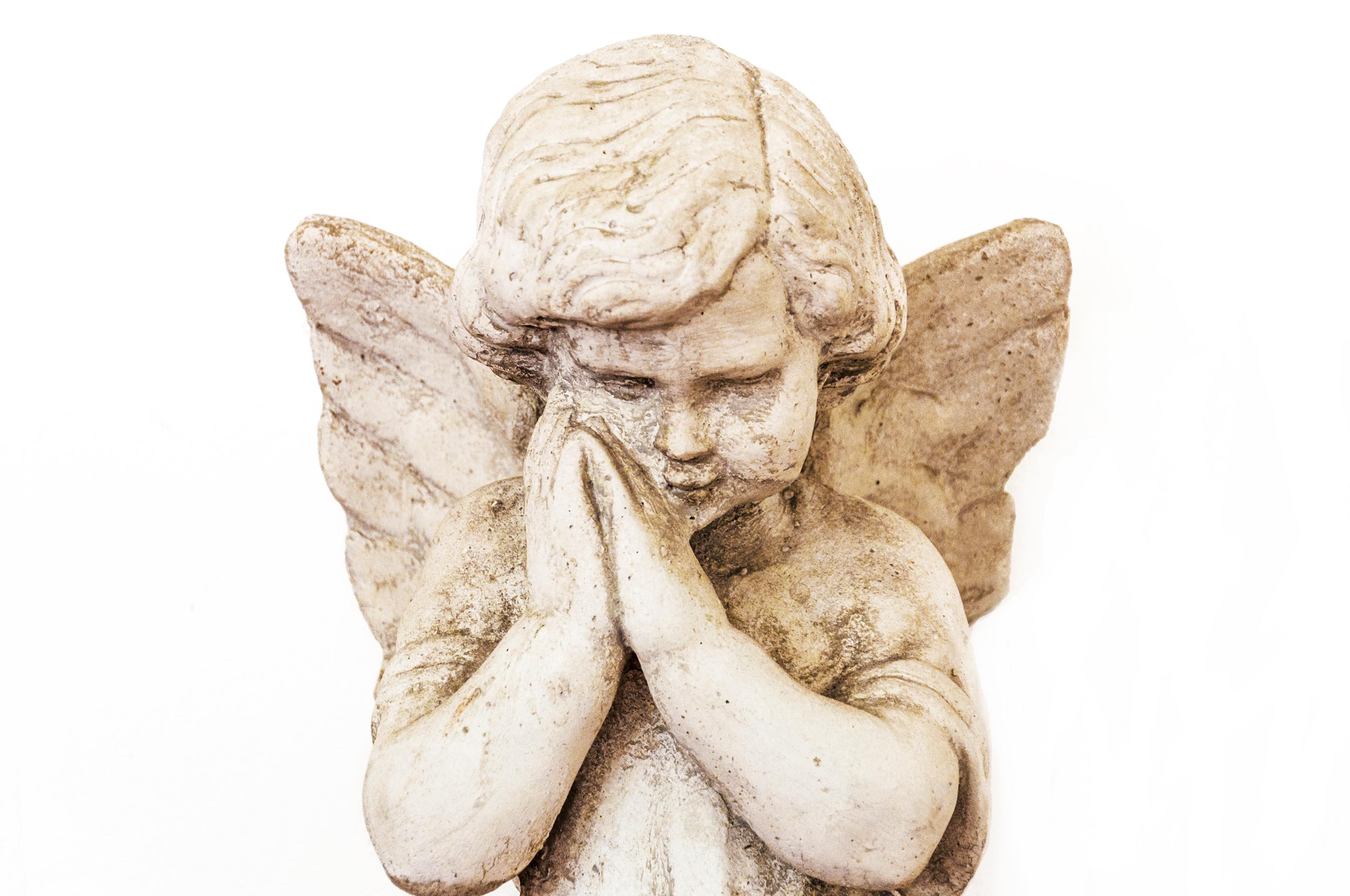 Angelic angel statue, Angel, Isolated, Italian, Marble, HQ Photo