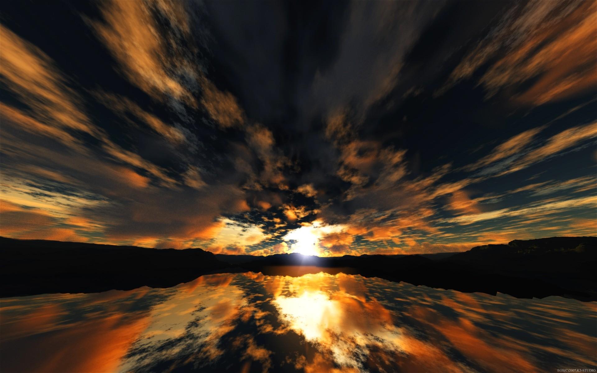 Sky: Light Angry Clouds Reflection Ocean Weird Mountain Sky ...