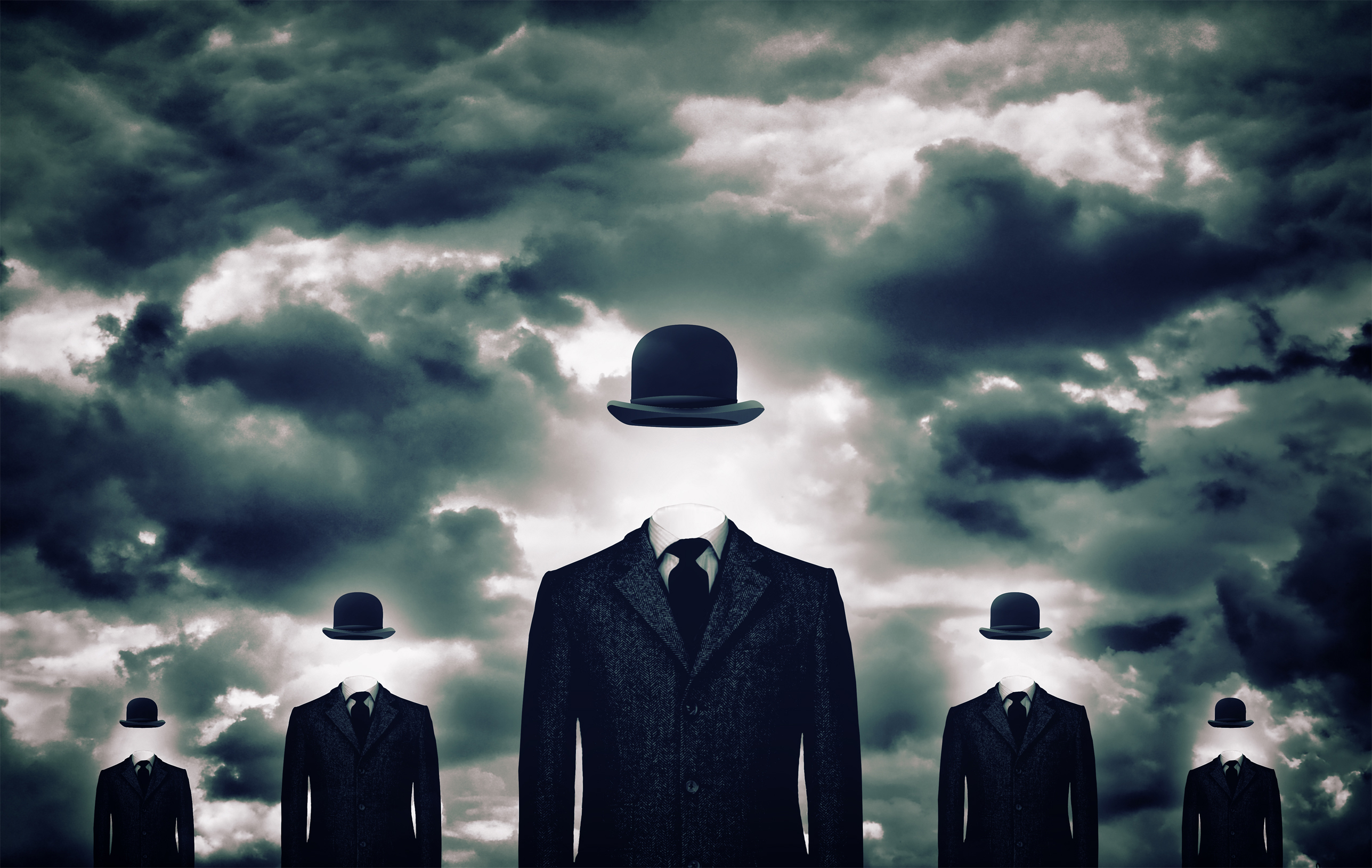 Anonymous businessmen with bowler hats, Accessories, Menacing, Plus, Person, HQ Photo