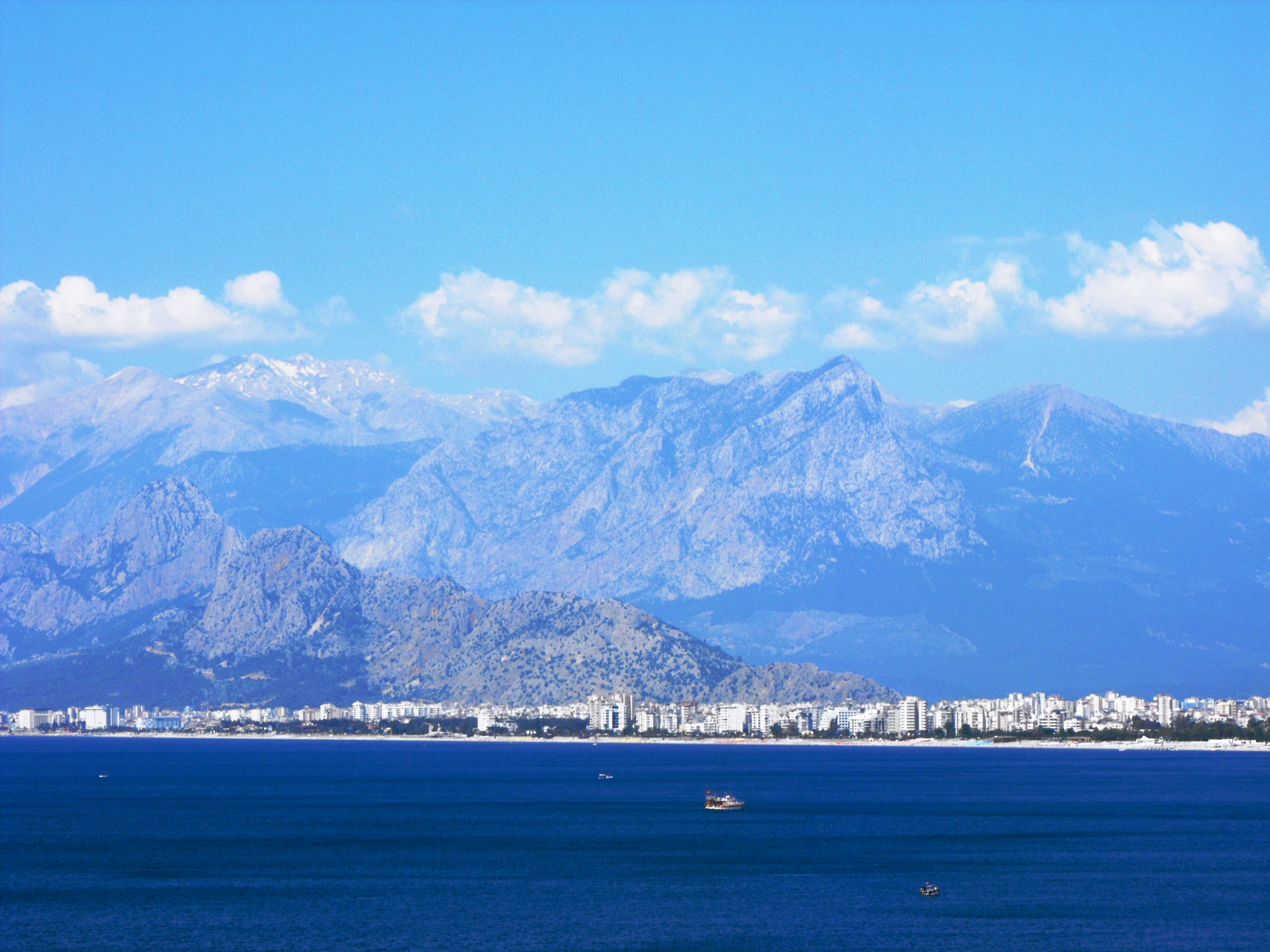 Antalya and the Taurus mountains, Antalya, Landscape, Mediterranean, Mountains, HQ Photo