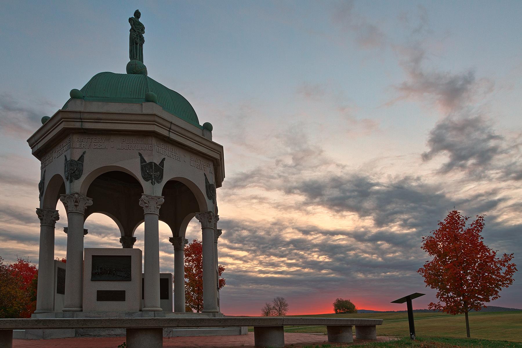 Antietam Dawn - HDR, America, Scene, Roof, Red, HQ Photo