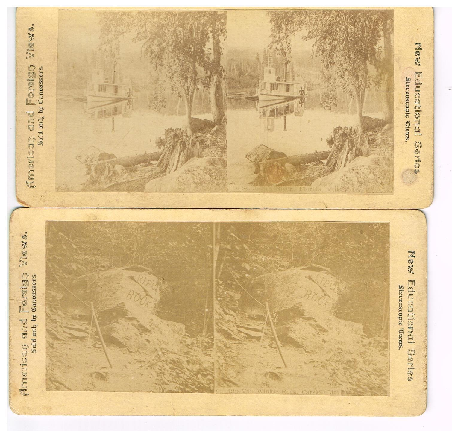 Antique Cardboard Stereoscope Stereoview Cards Cancassers Florida ...