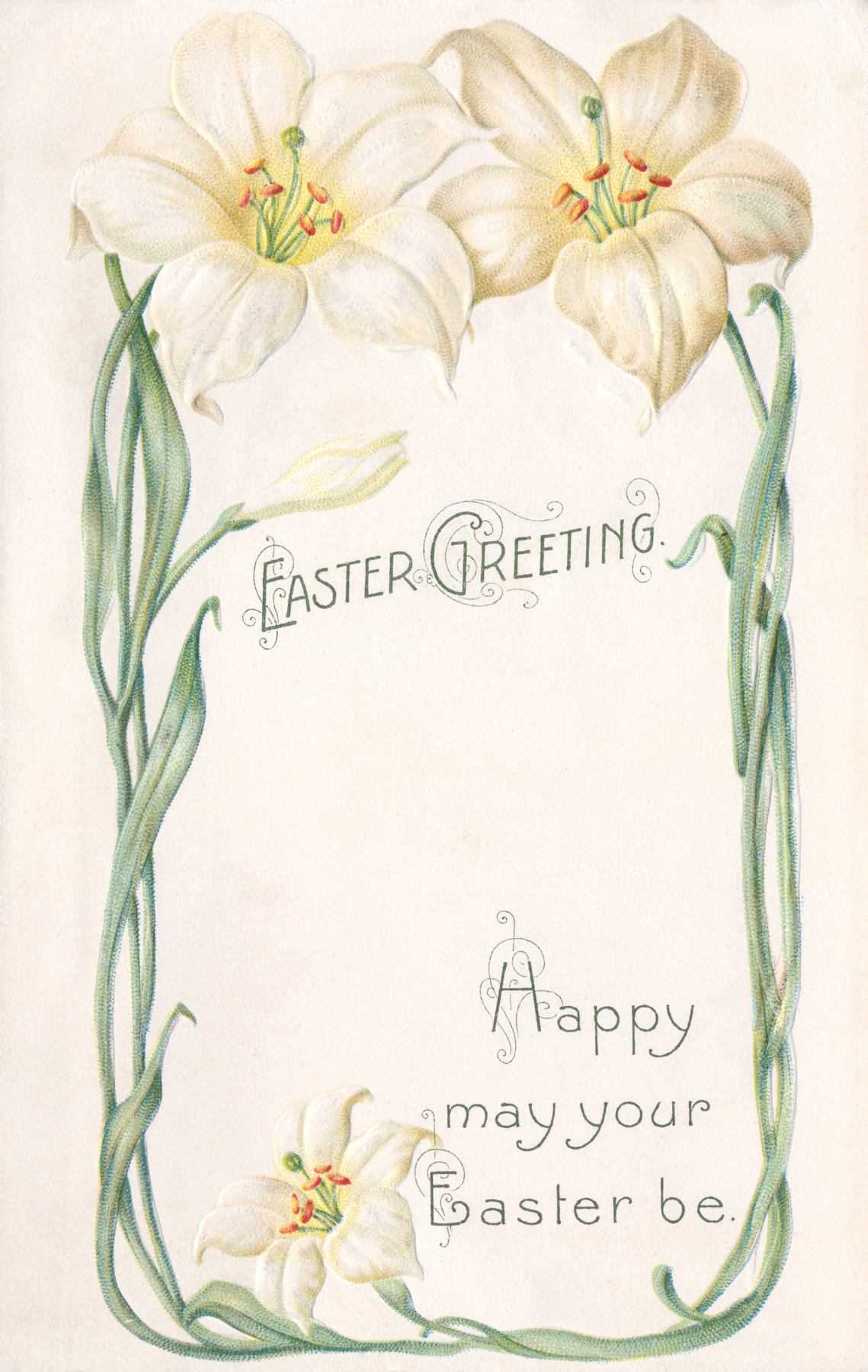 Free Photo Antique Easter Greeting Card Ornament Orange Old