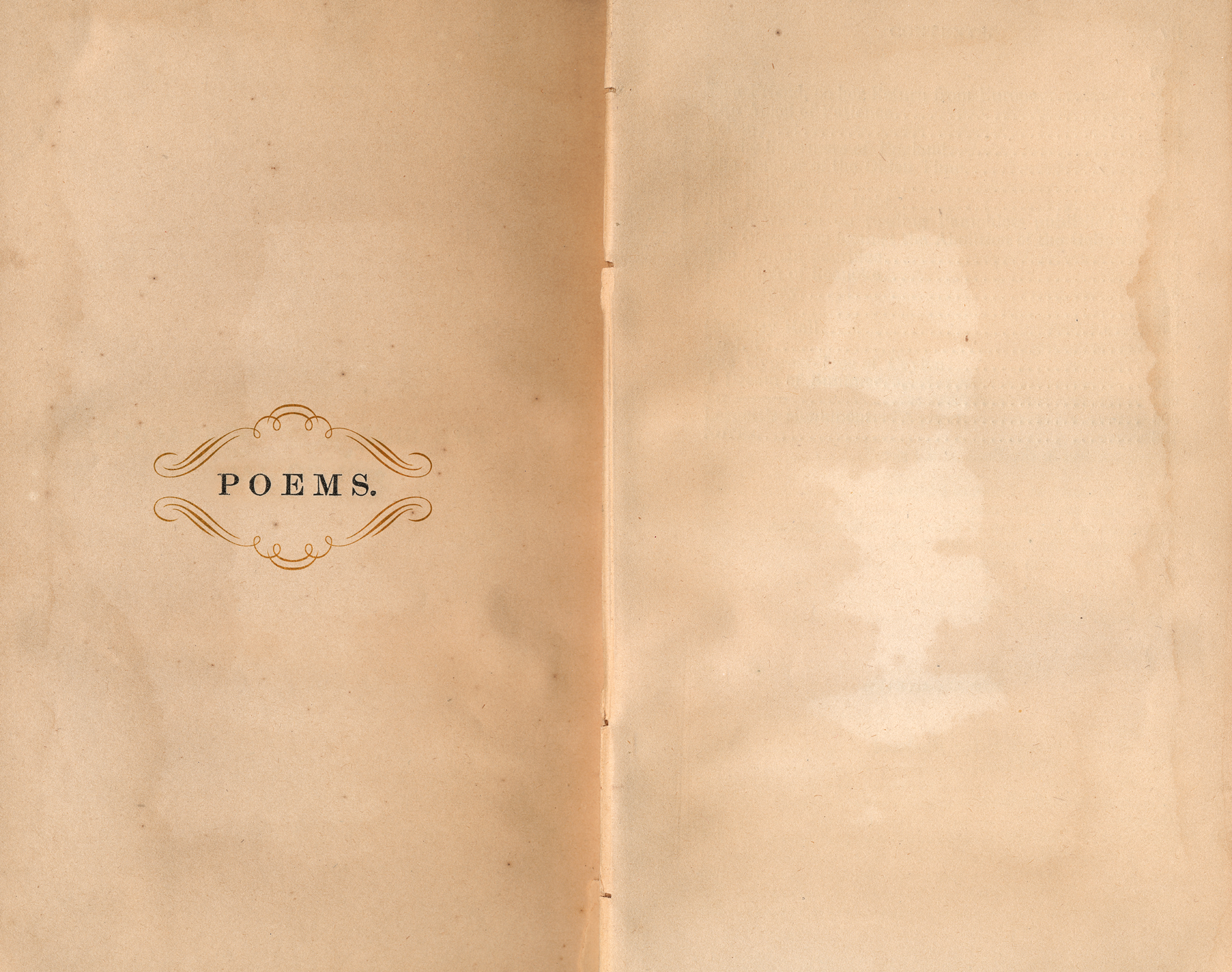Antique poems paper template photo