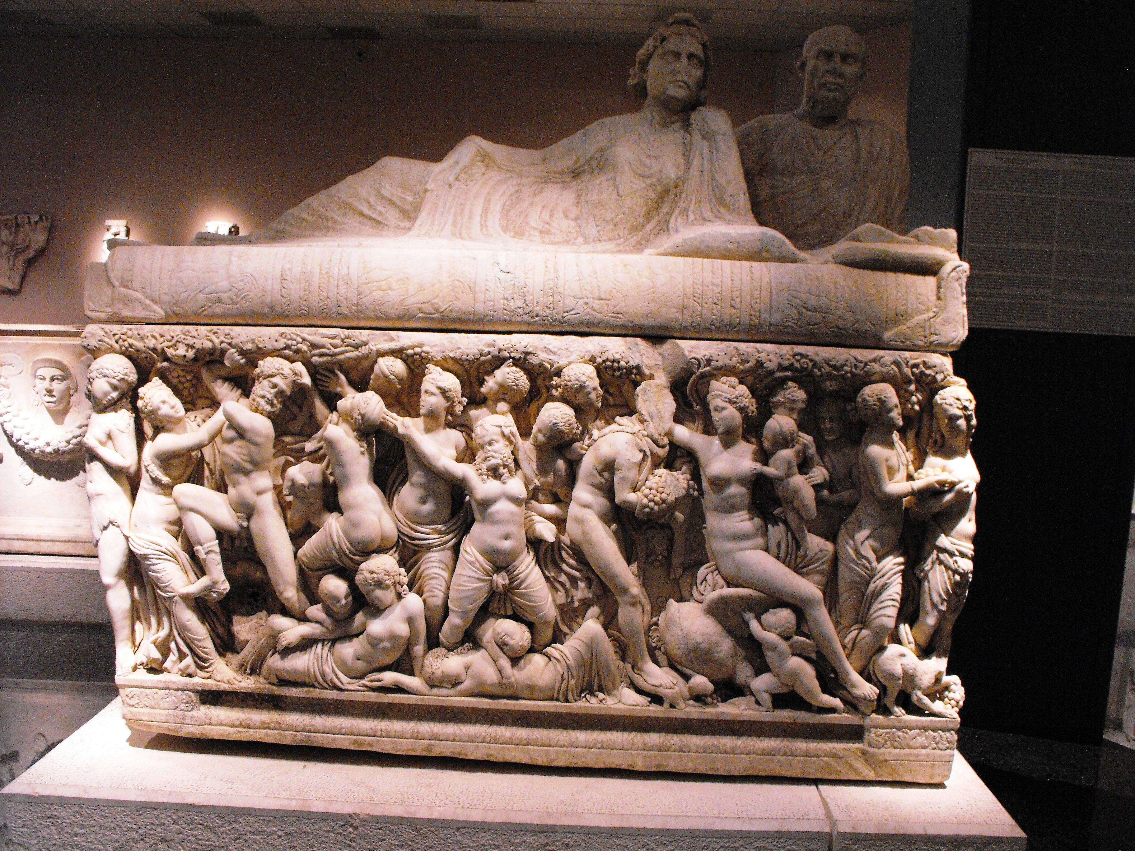 Antique sarkofag, Antalya, Antique, Archaeological, Exhibit, HQ Photo