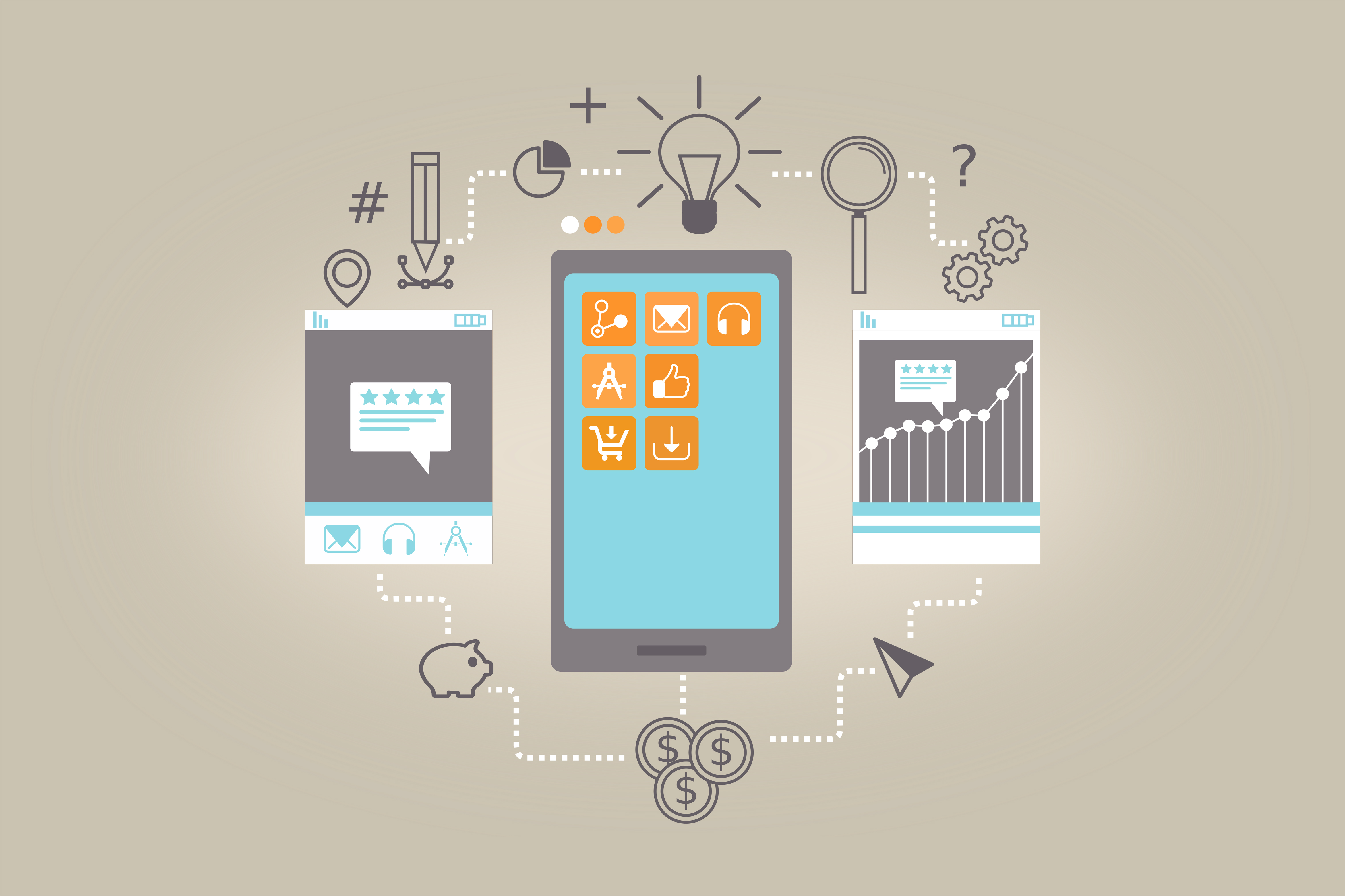 App Monetization - How to Monetize Apps Concept, Abstract, Network, Phone, Per, HQ Photo