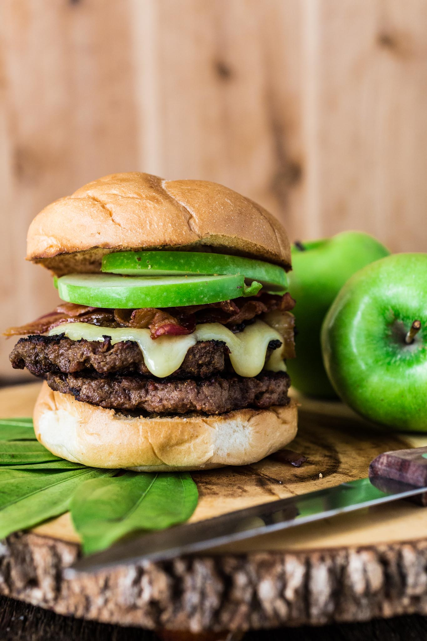 Apple, Bacon and Brie Burger - Olivia's Cuisine