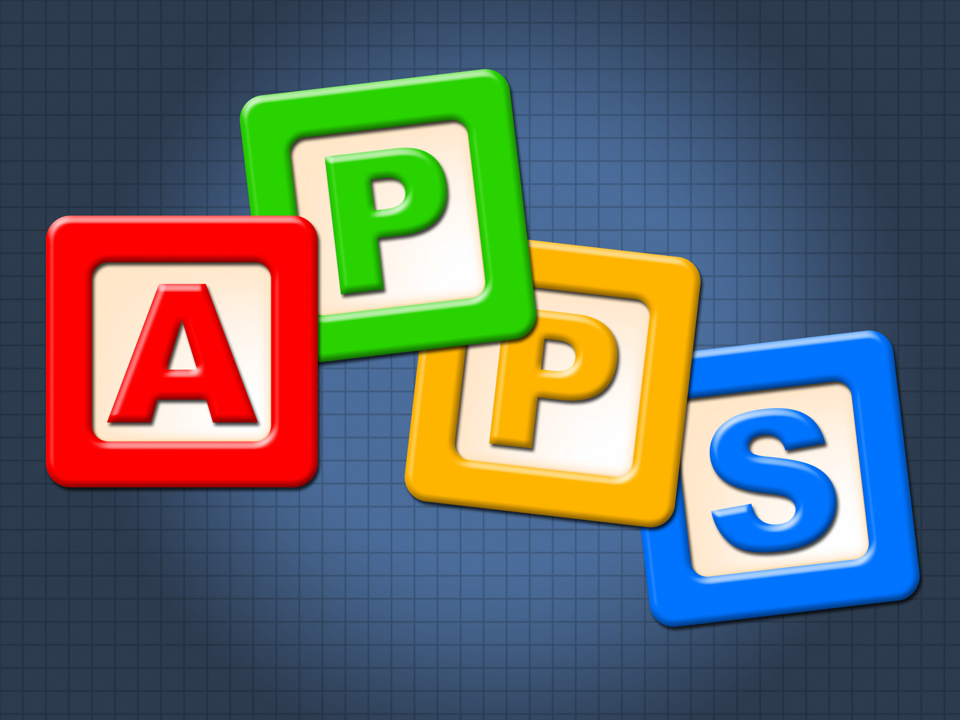 Apps Kids Blocks Shows Application Software And Computing, App, Kid, Youth, Youngsters, HQ Photo