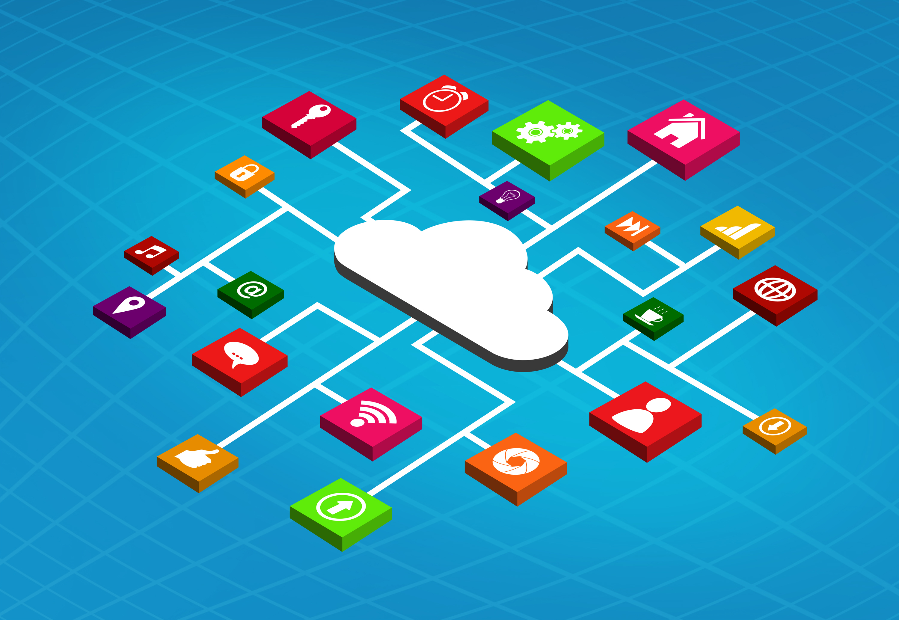 Apps running in the cloud photo