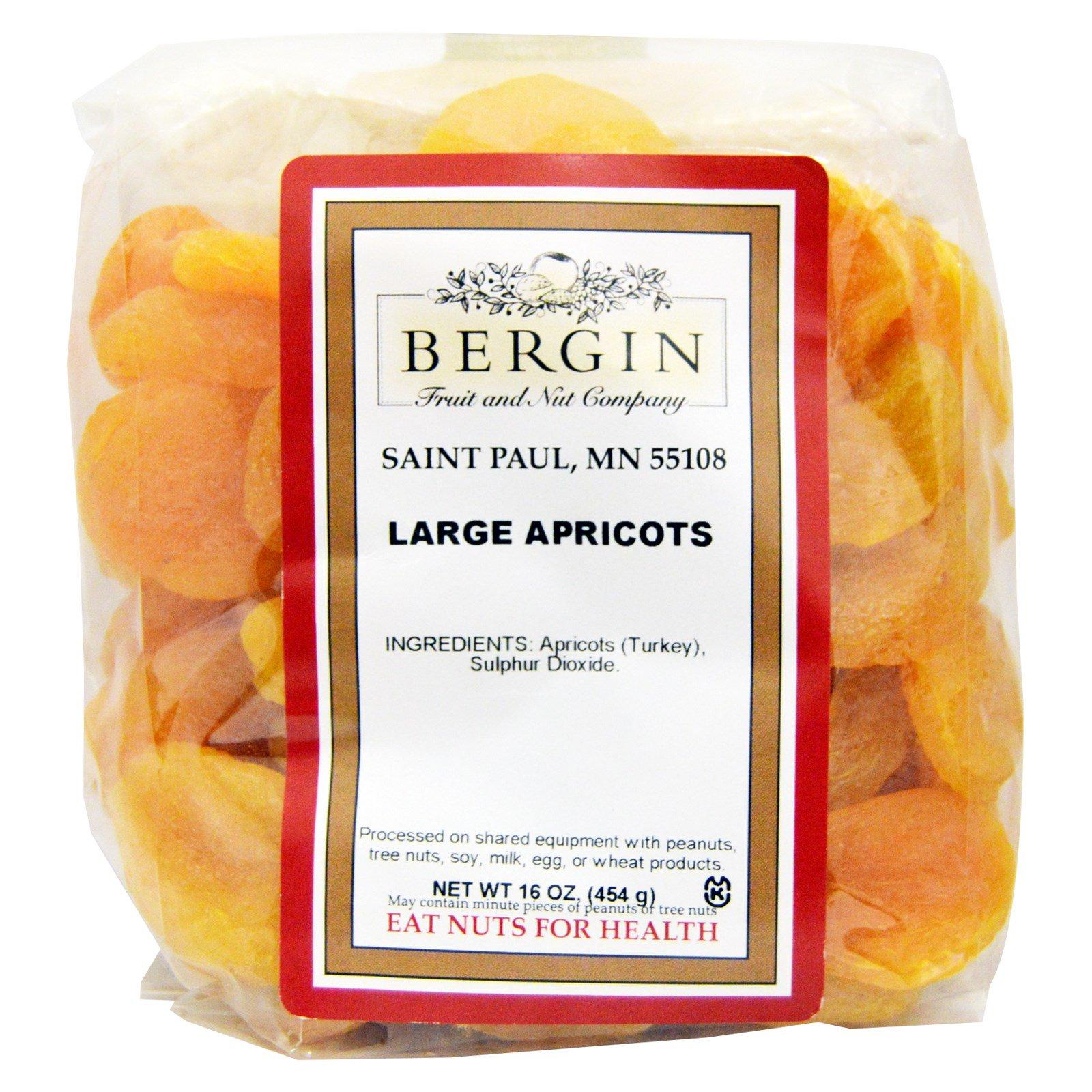 Bergin Fruit and Nut Company, Turkish Jumbo Apricots, 16 oz - iHerb.com