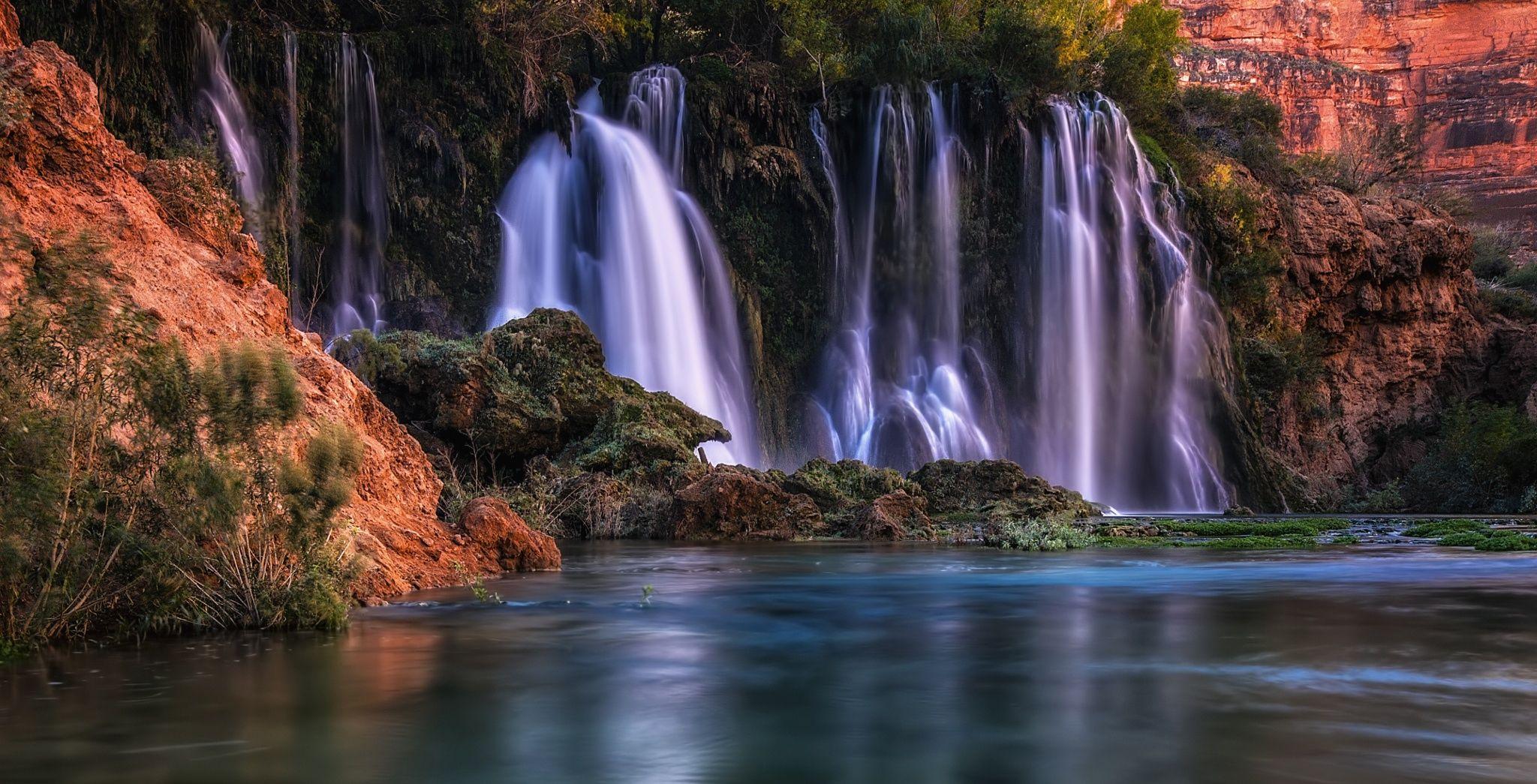 Aquamarine - The wonderful aquamarine colors of Havasu Falls ...