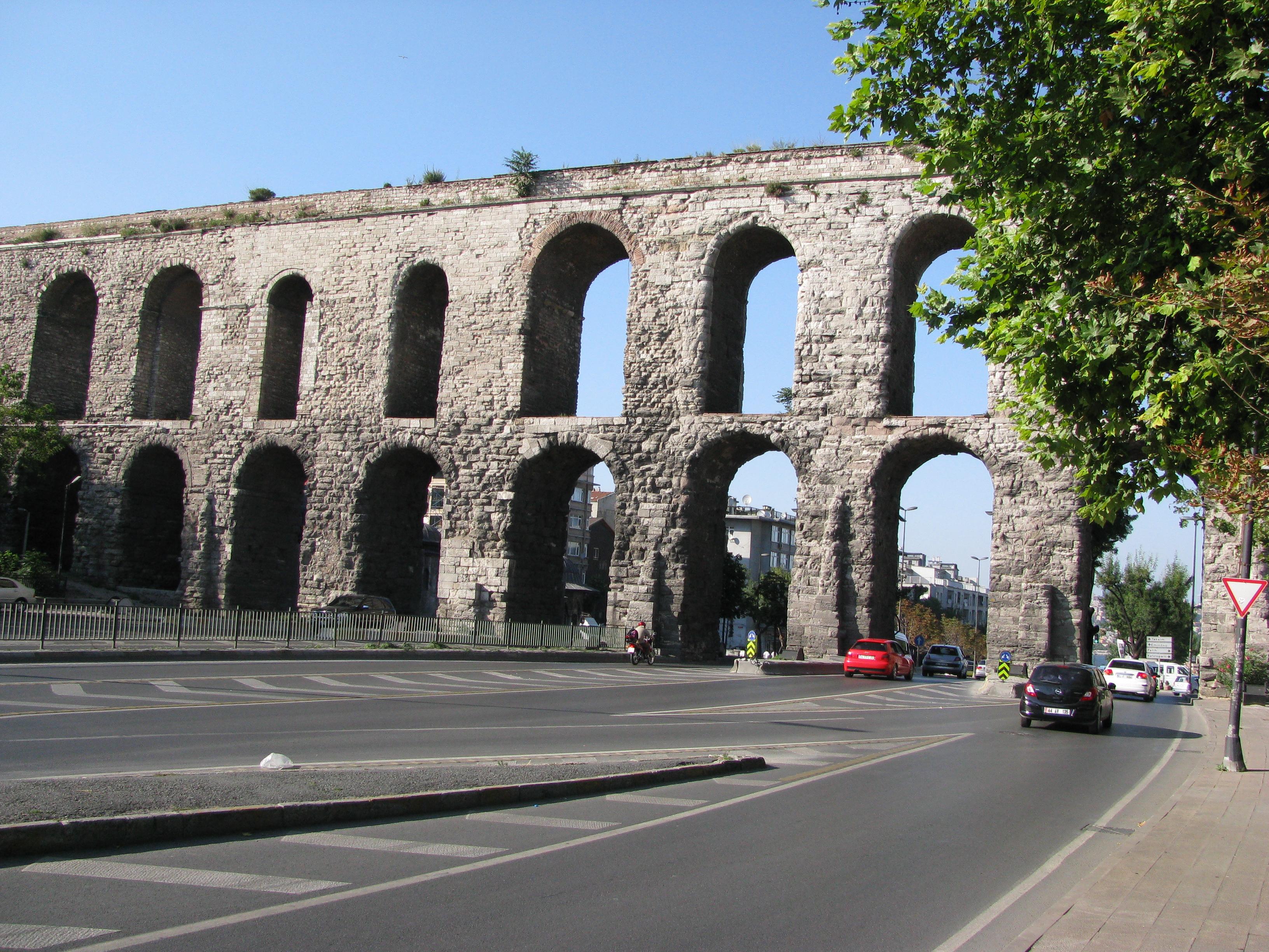 Aqueduct of valent in istanbul photo