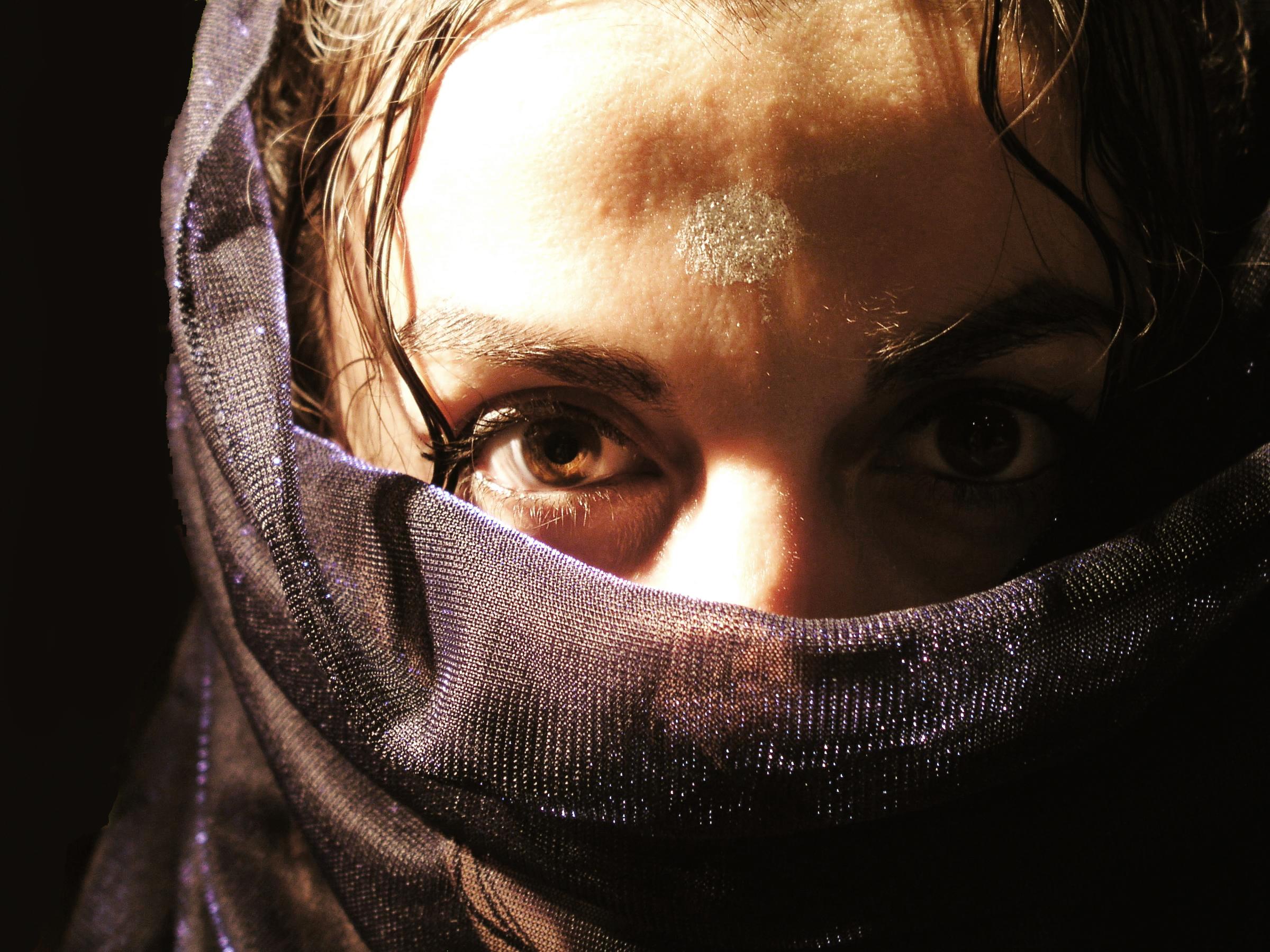 Arab woman with veil photo