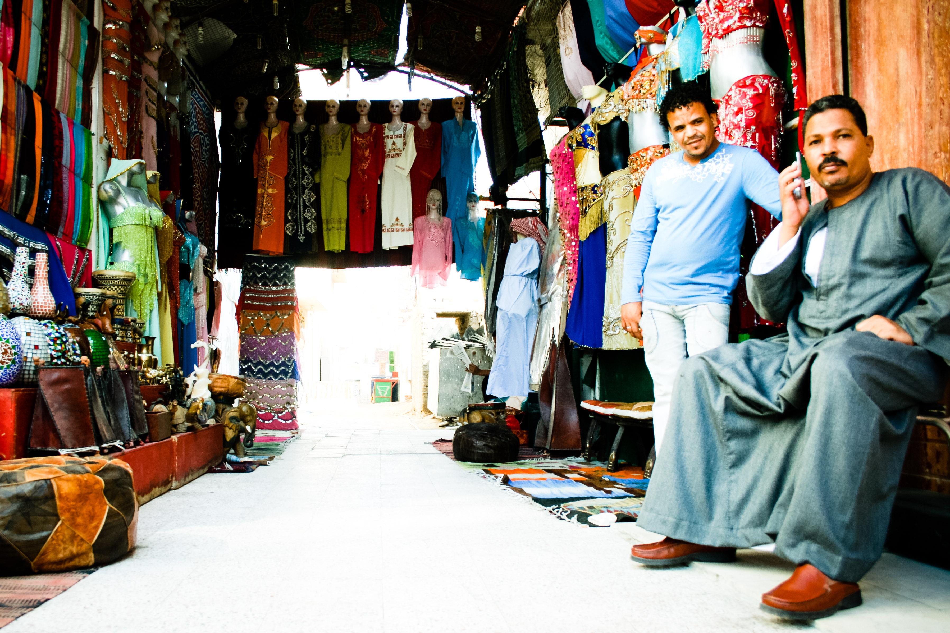 Arabic man and shop photo