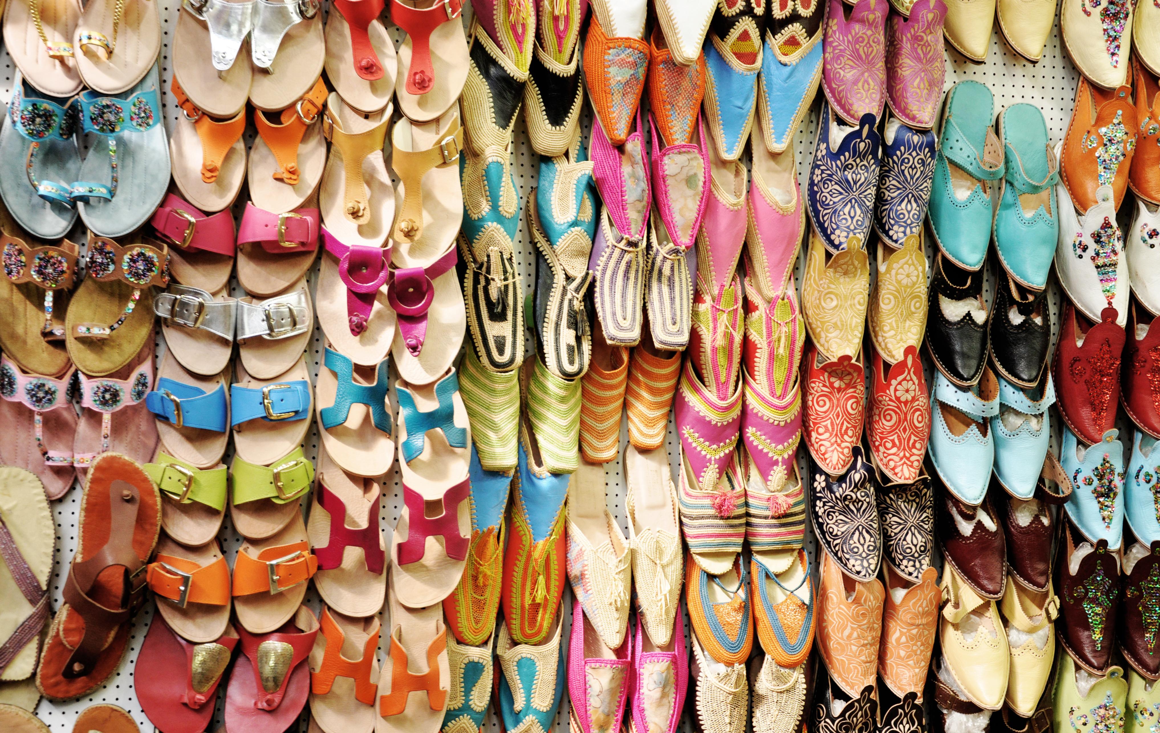 Morocco shoe display photo