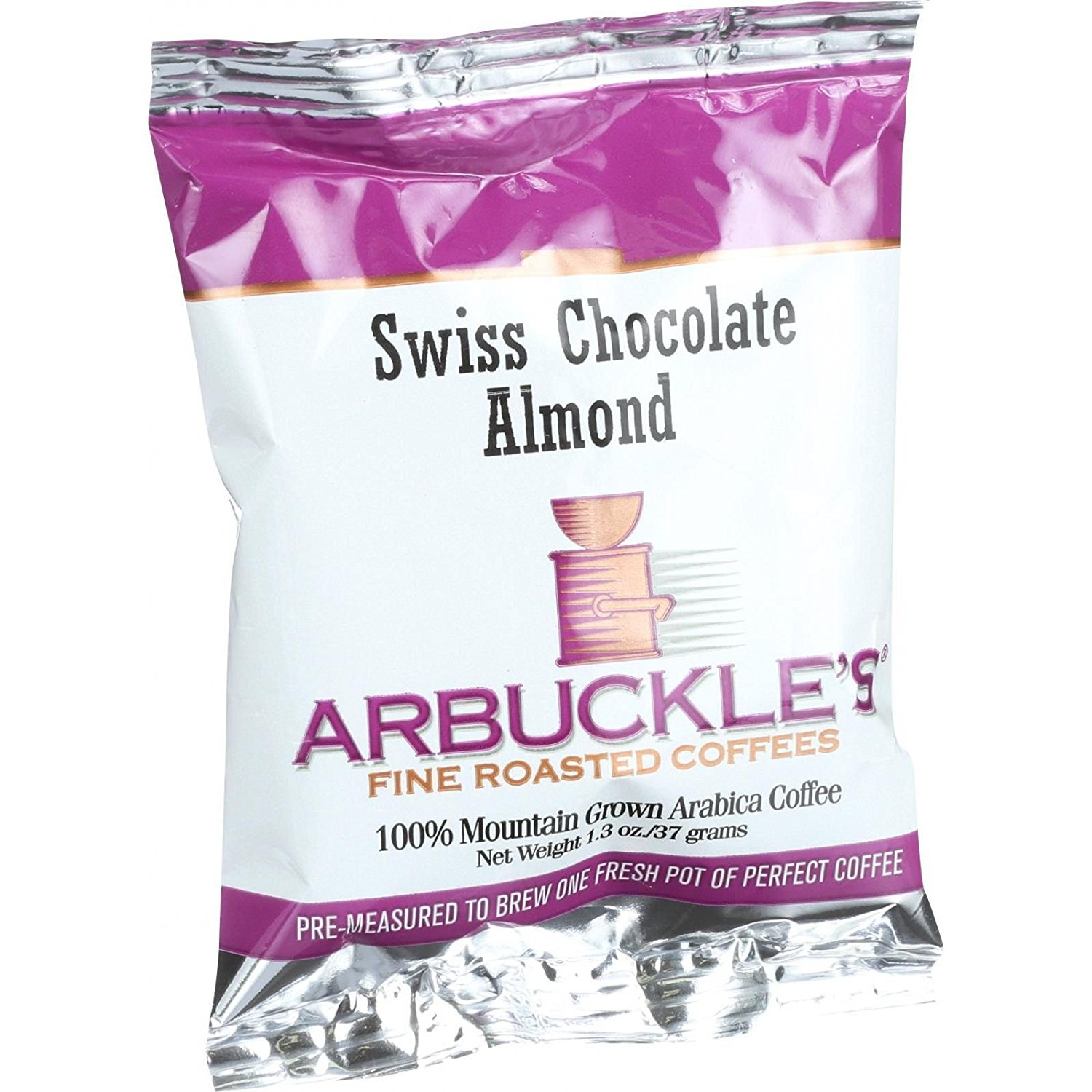 Arbuckles Fine Roasted Ground Swiss Chocolate Almond Coffee, 1.3 ...