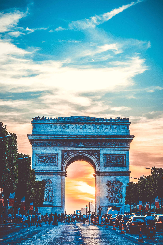 Arche De Triumph, Arc de triomphe, Paris, Travel, Traffic, HQ Photo