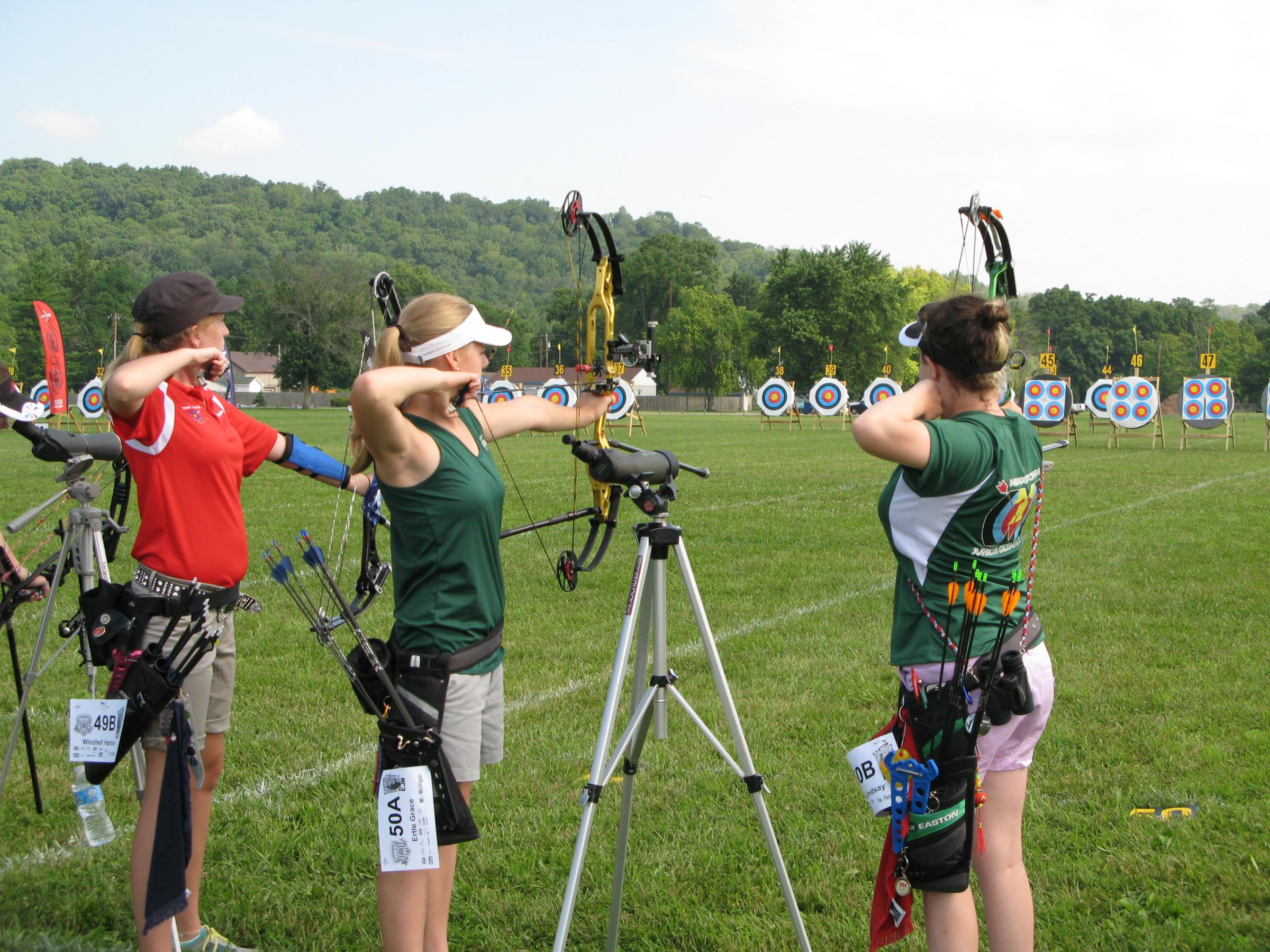 National archery competition draws hundreds, including Olympians | WVXU
