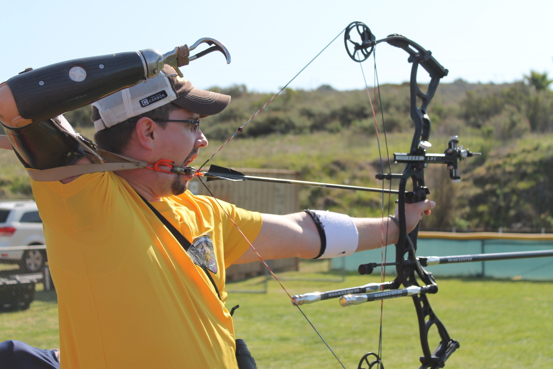File:Marine Corps veteran Mark P. OíBrien participates in an archery ...