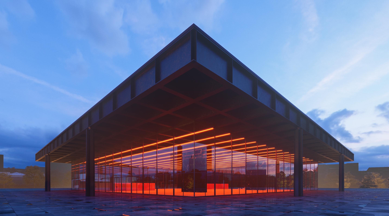 Neue National Gallery in Berlin - Ronen Bekerman - 3D Architectural ...