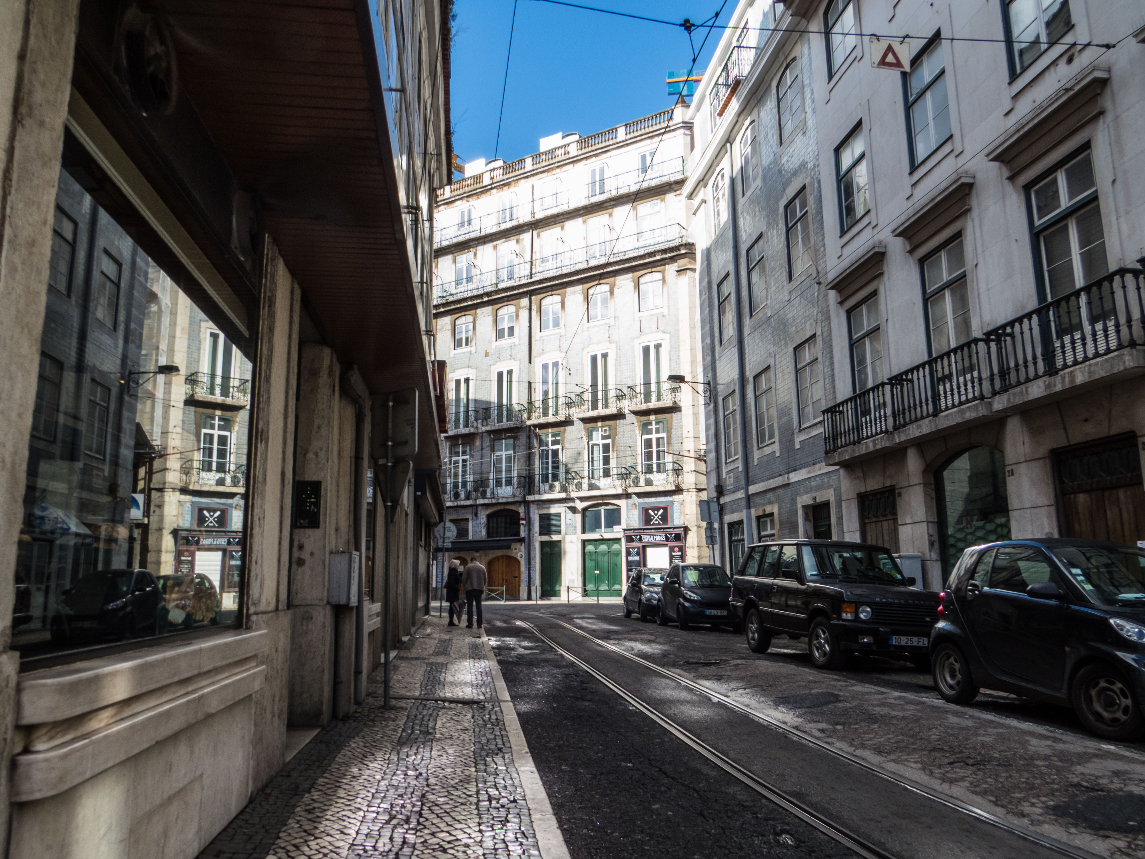 Architecture of Lisbon, Shops, Road, Stores, Street, HQ Photo