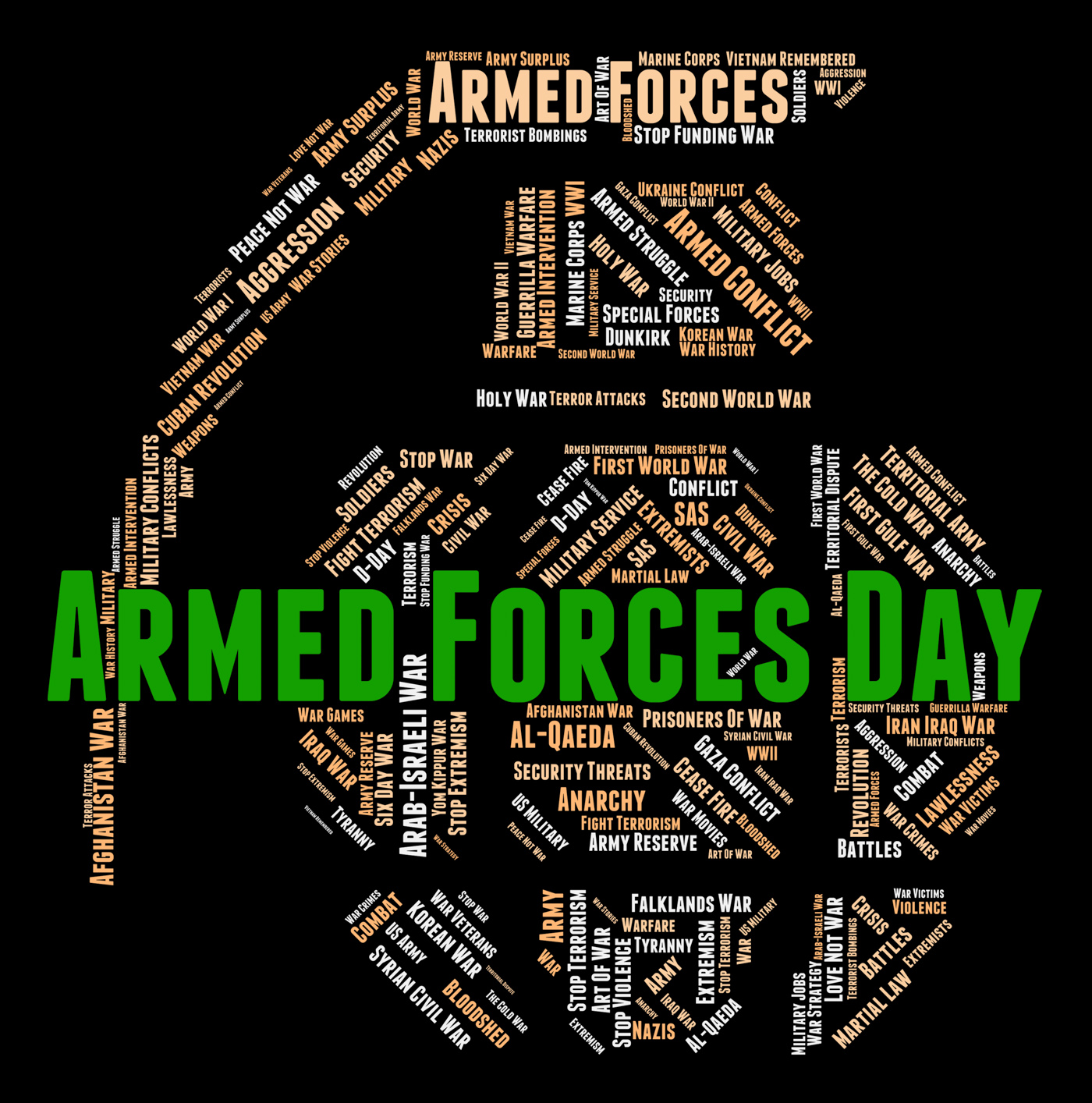 Armed Forces Day Represents Fighting Machine And Armament, American, Forces, Wordclouds, Wordcloud, HQ Photo