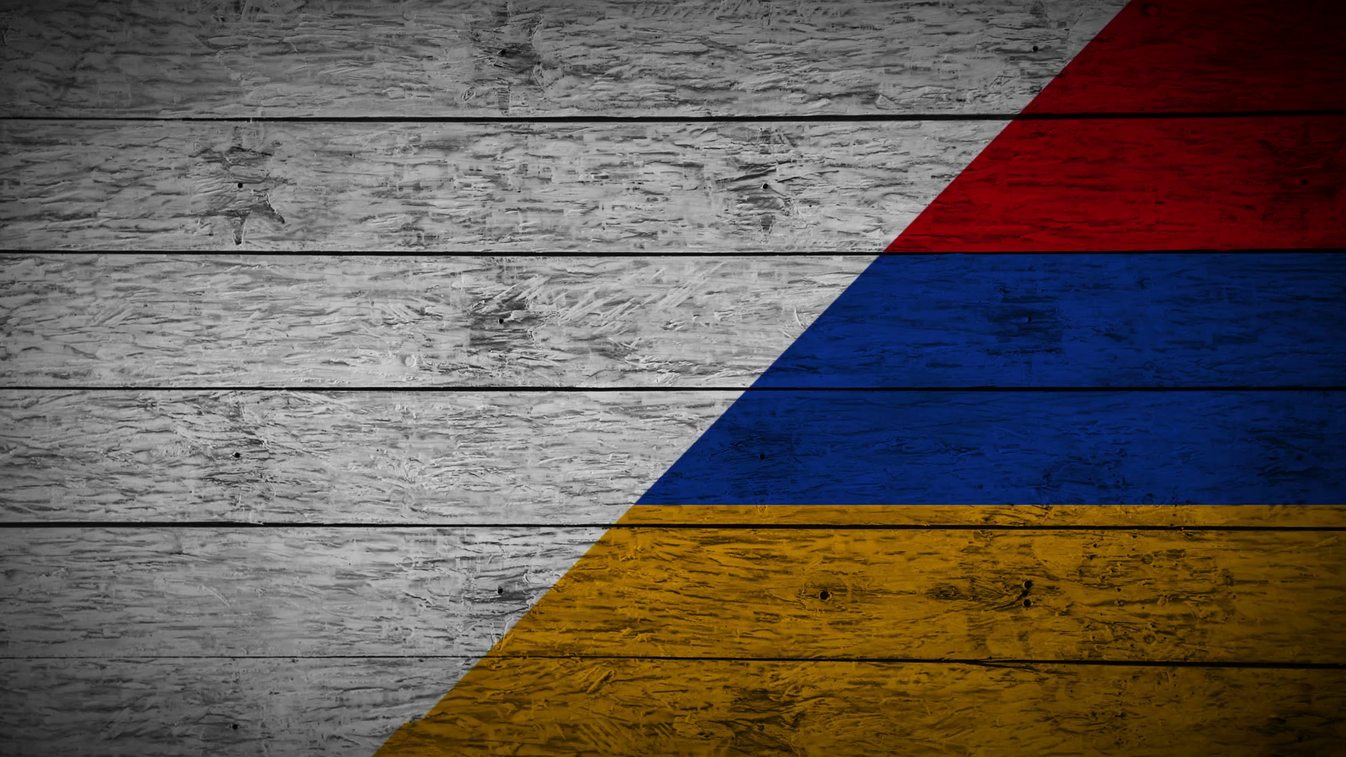 Painting Flag of Armenia on old wood boards With four different ways ...