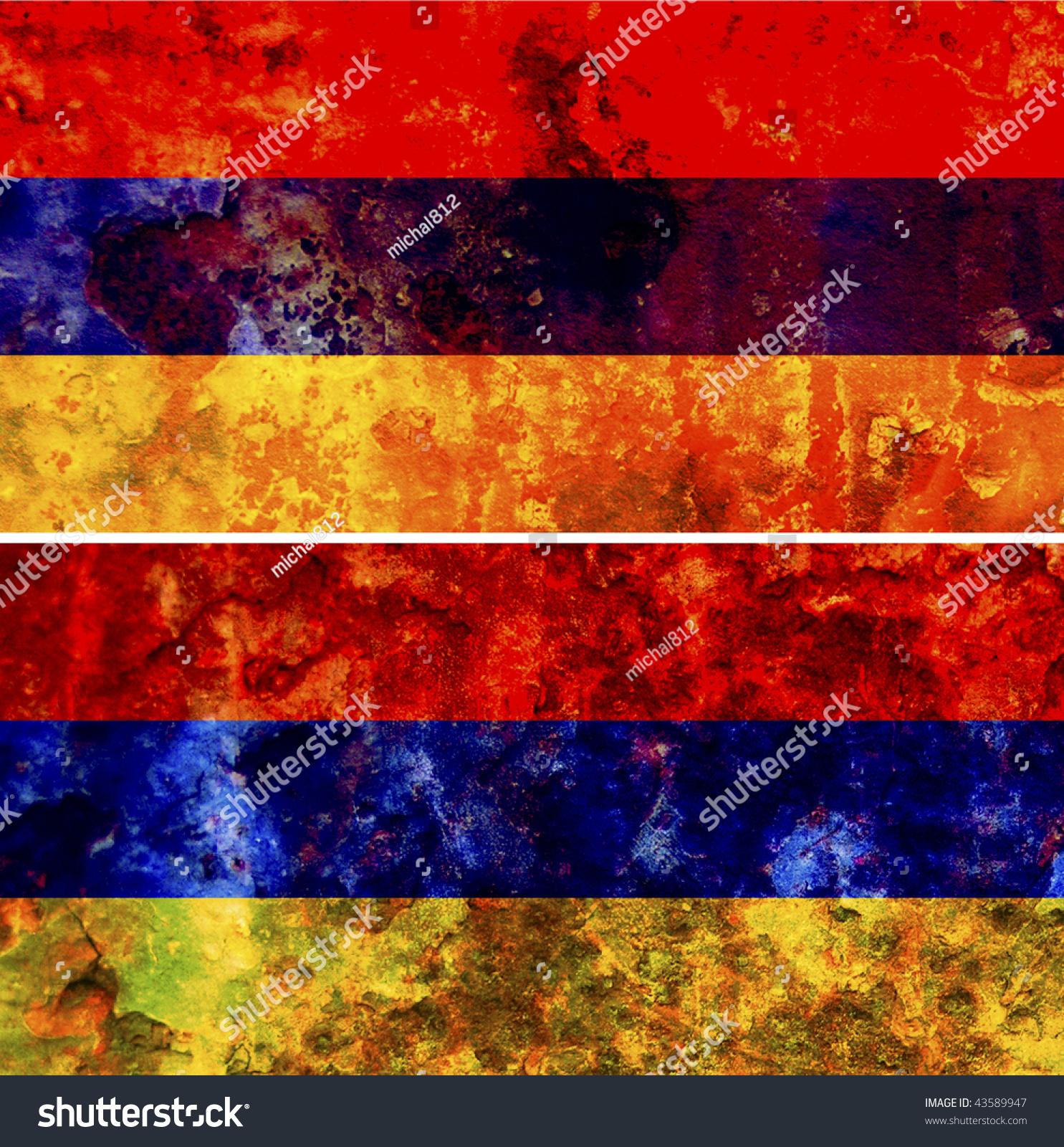 Some Very Old Grunge Flag Armenia Stock Illustration 43589947 ...