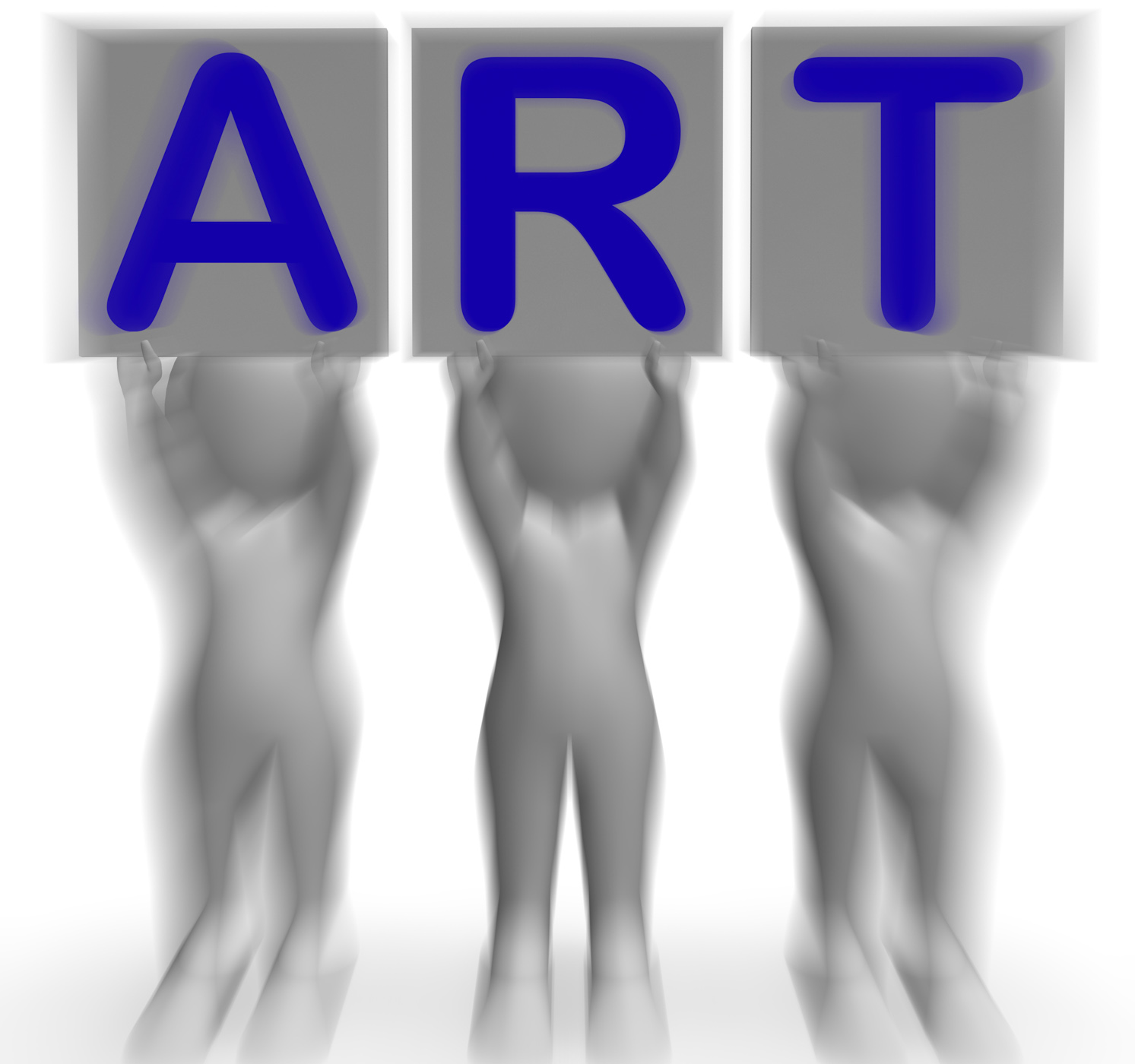 Art placards means artistic paintings and drawings photo