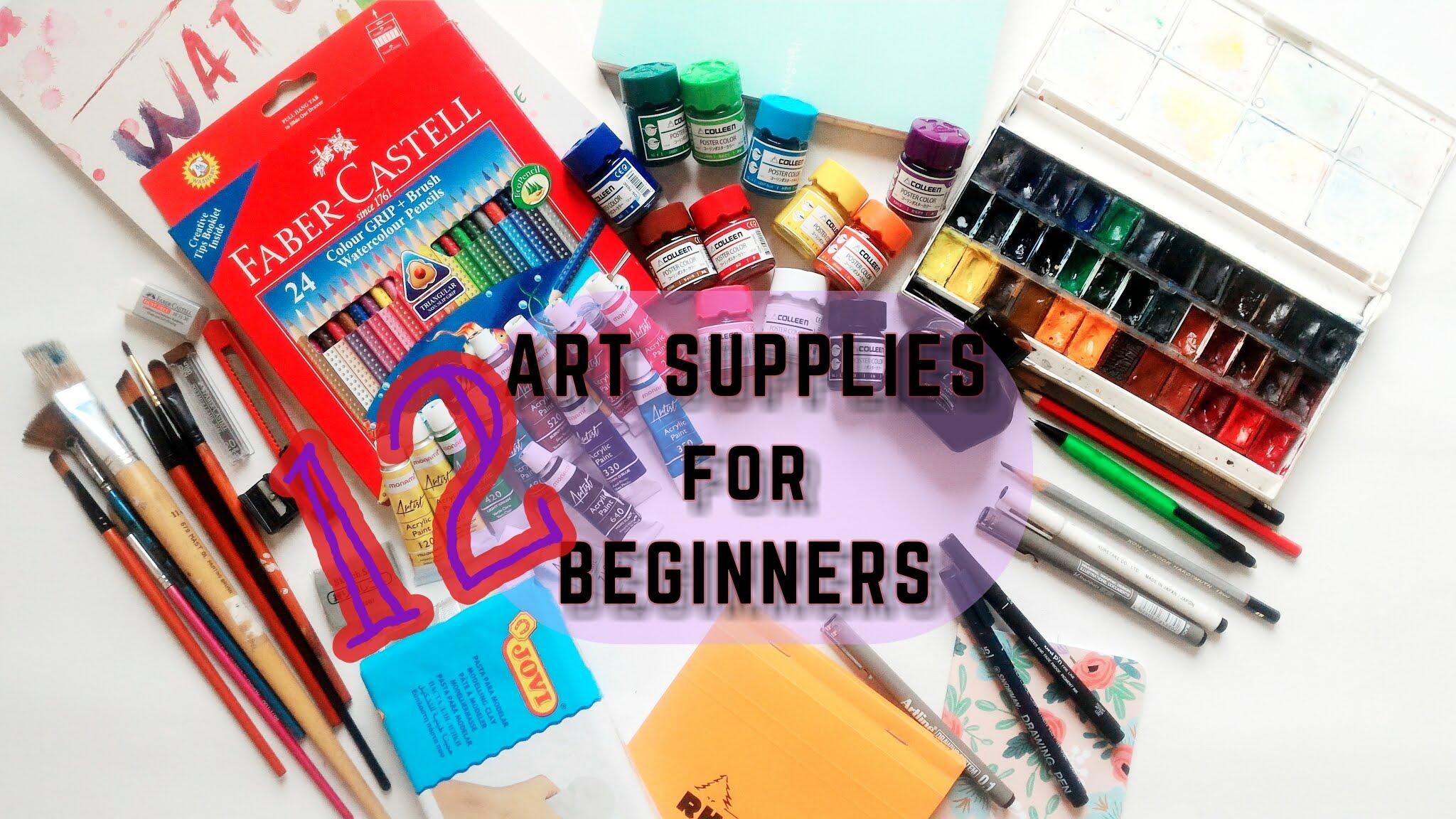 Art Supplies for Beginners - YouTube