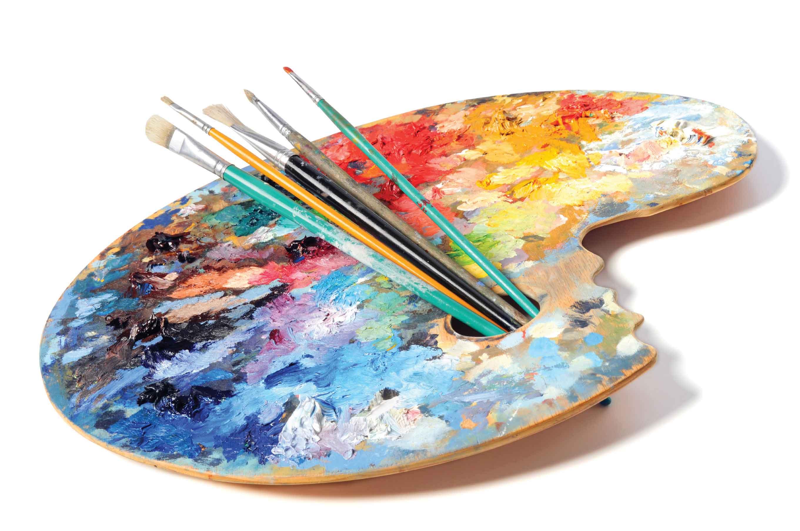 Artistic palette photo