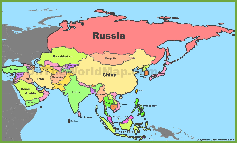 Asia Maps | Maps of Asia - OnTheWorldMap.com
