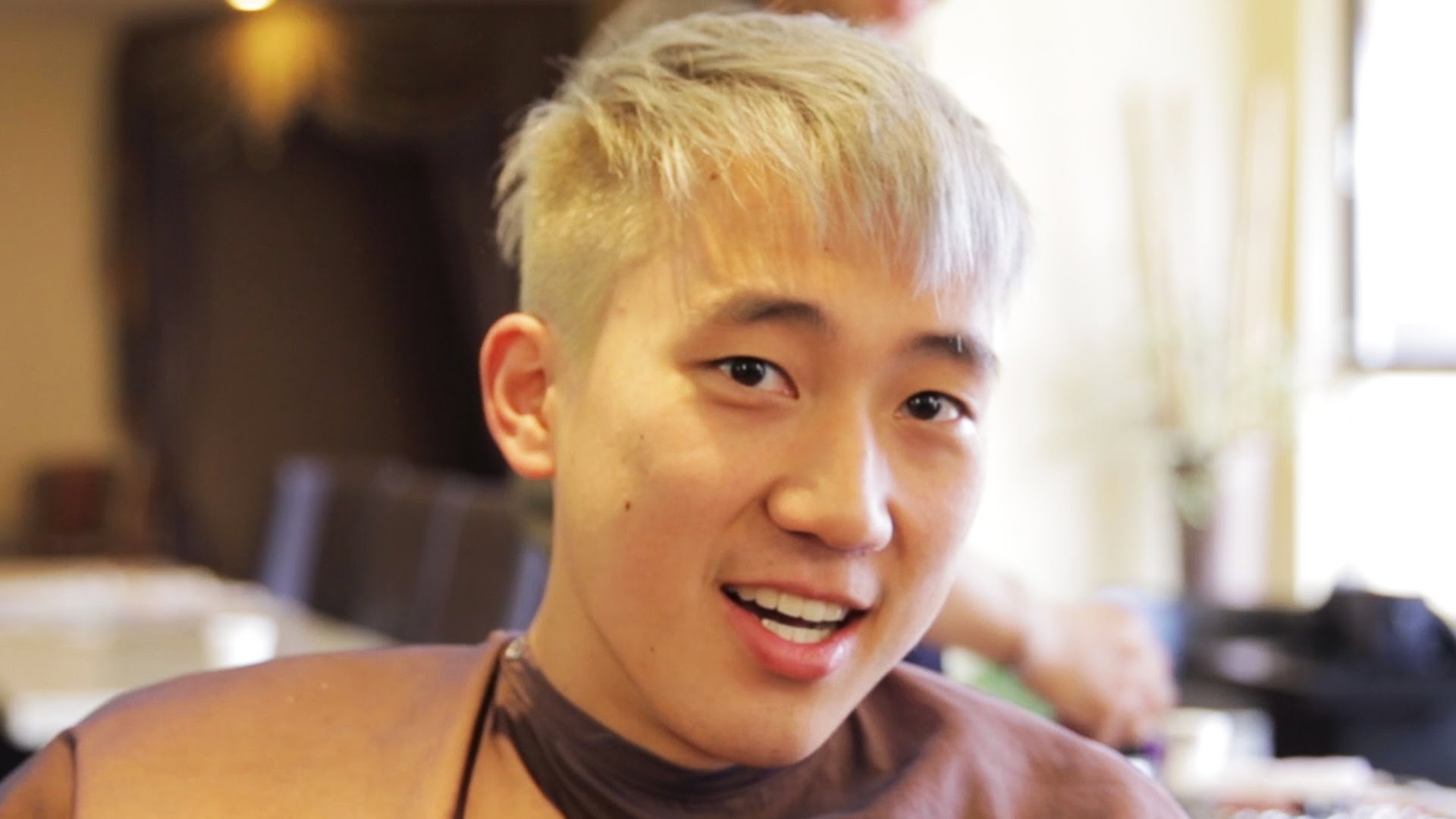 Asian guy with blonde
