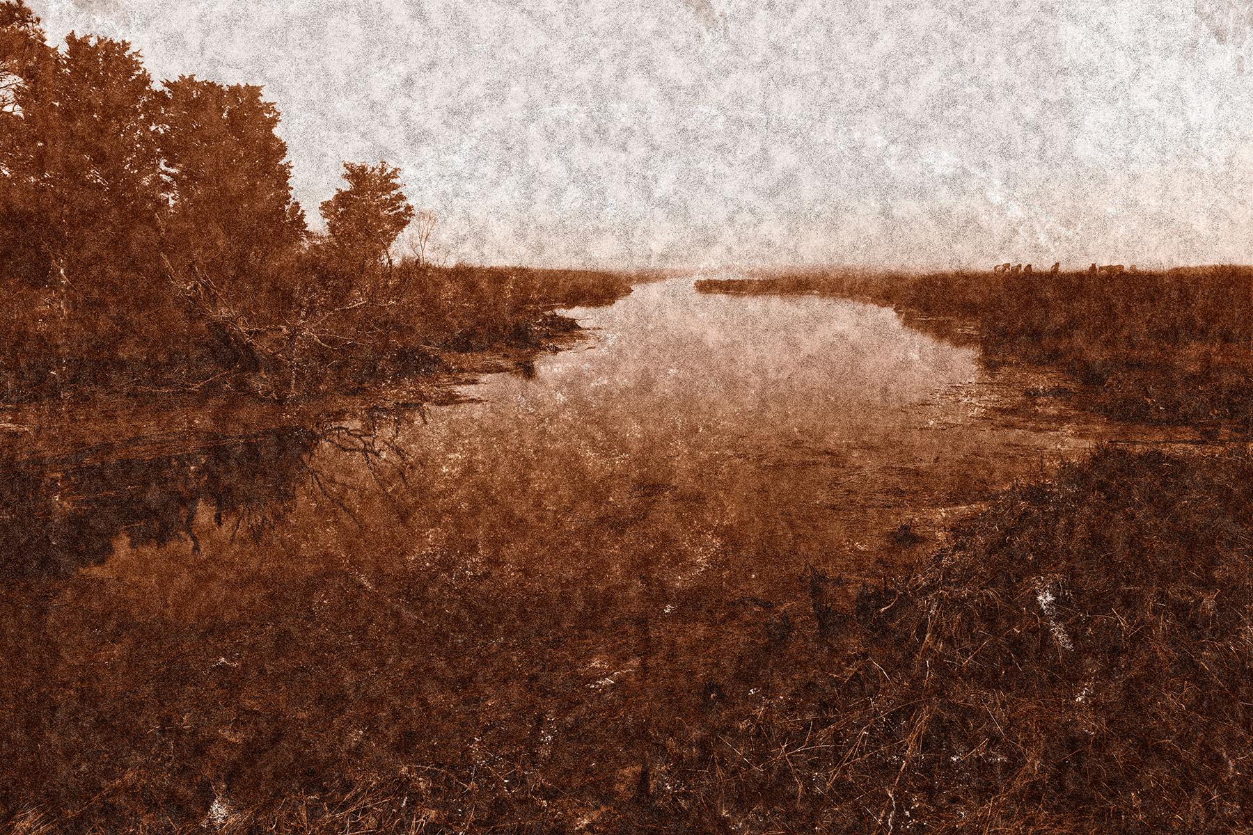 Assateague island marsh - sepia nostalgia photo