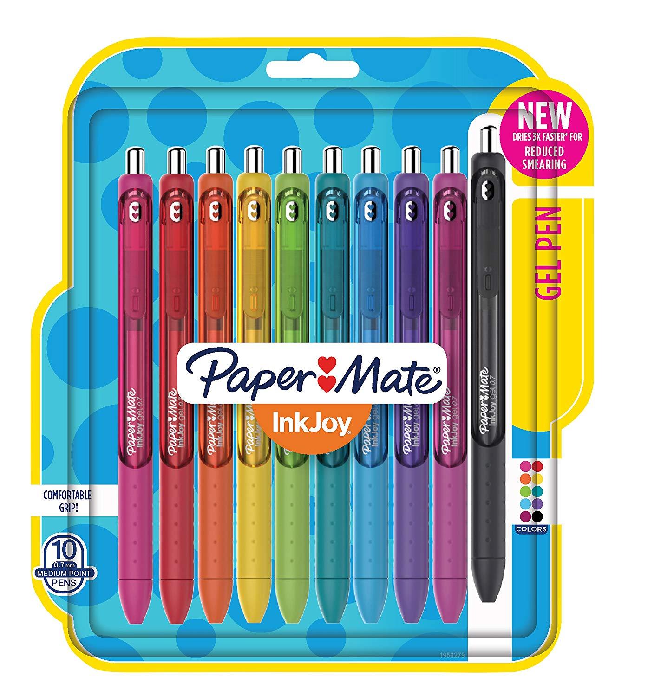 Amazon.com: Paper Mate 1956279 InkJoy Gel Pens, Medium Point ...