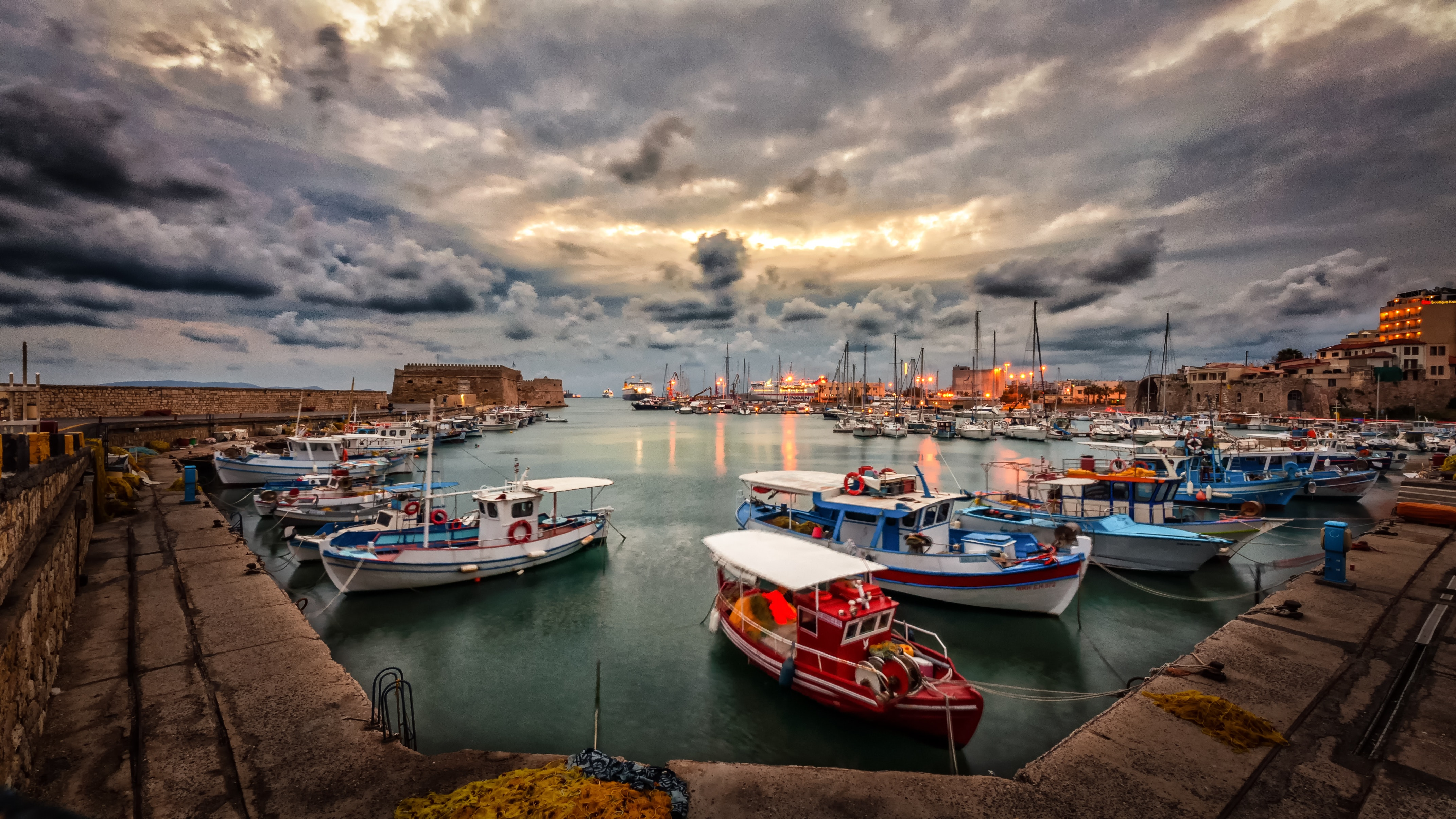Assorted Fishing Boats, Architecture, Pier, Waterfront, Watercrafts, HQ Photo