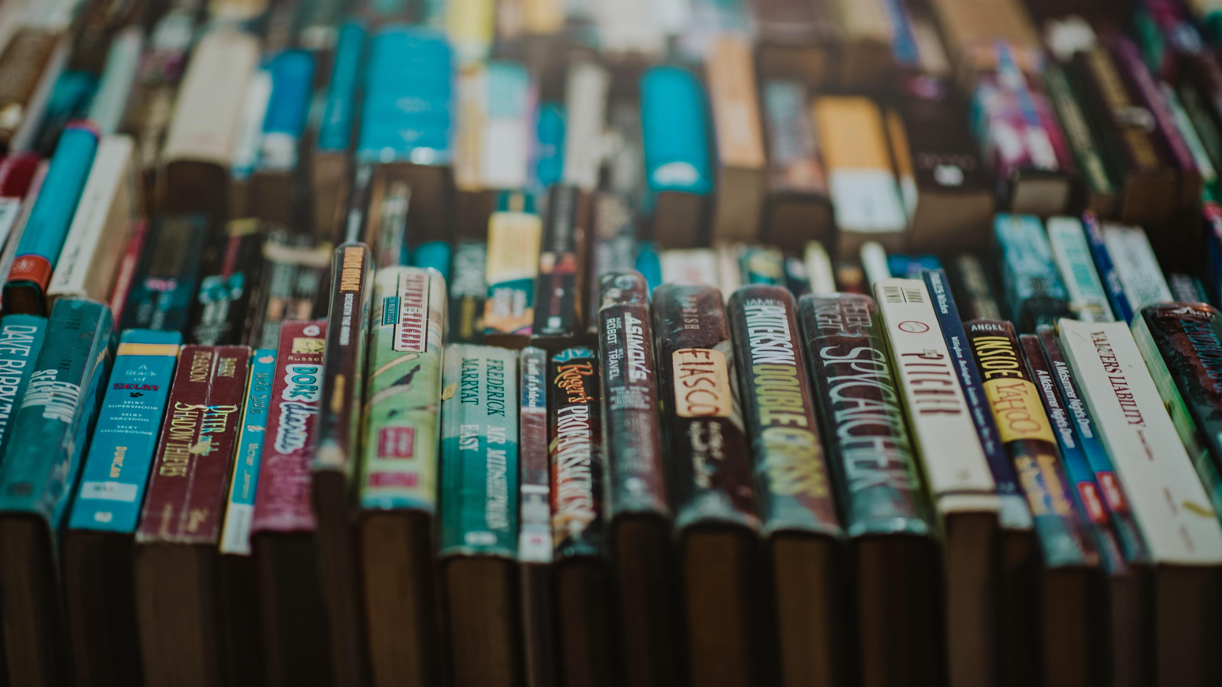 Assorted-title Novel Book Photo, Abundance, Literature, Title, Text, HQ Photo