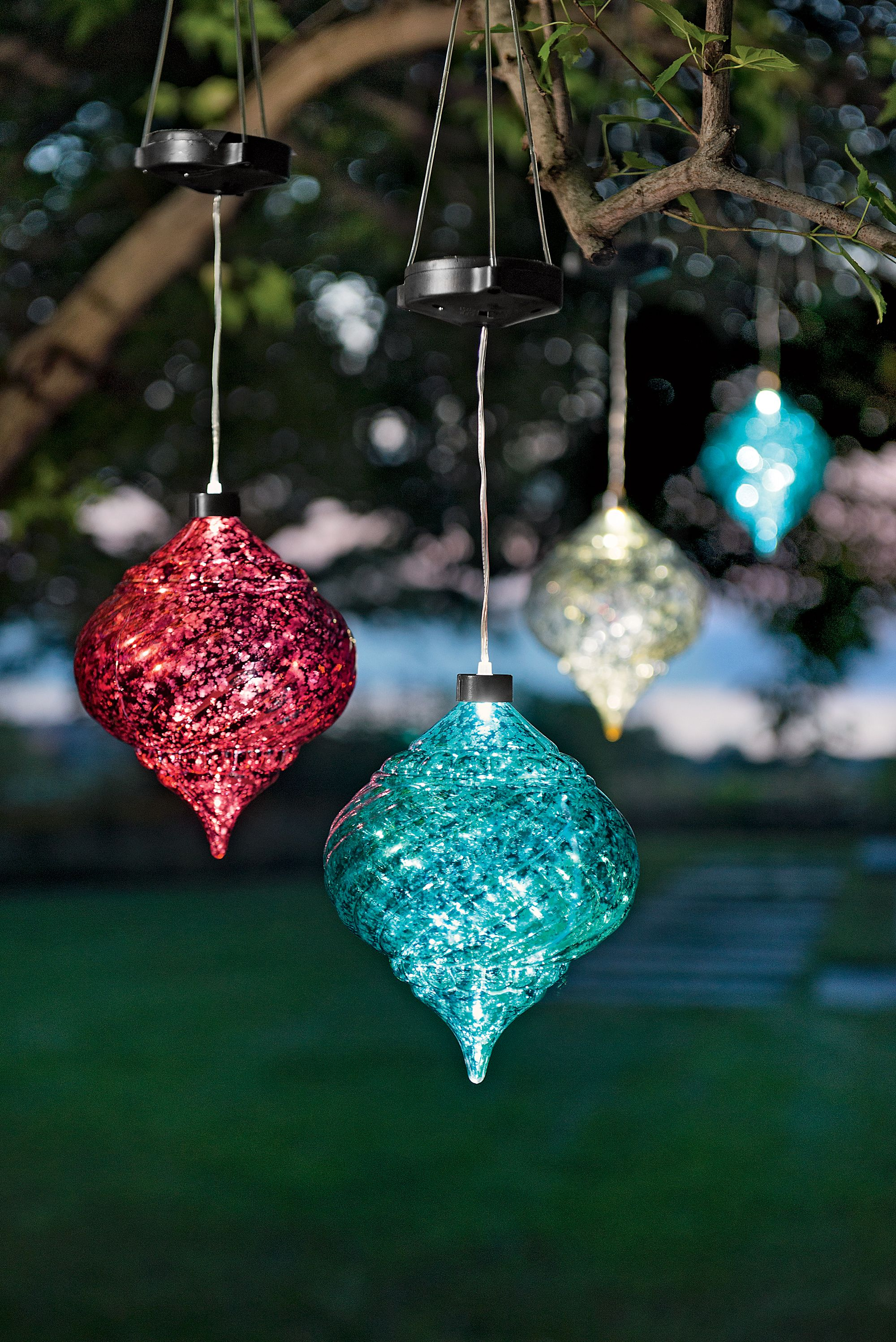 Large Outdoor Christmas Ornaments - Hanging Onion Solar Ornament ...