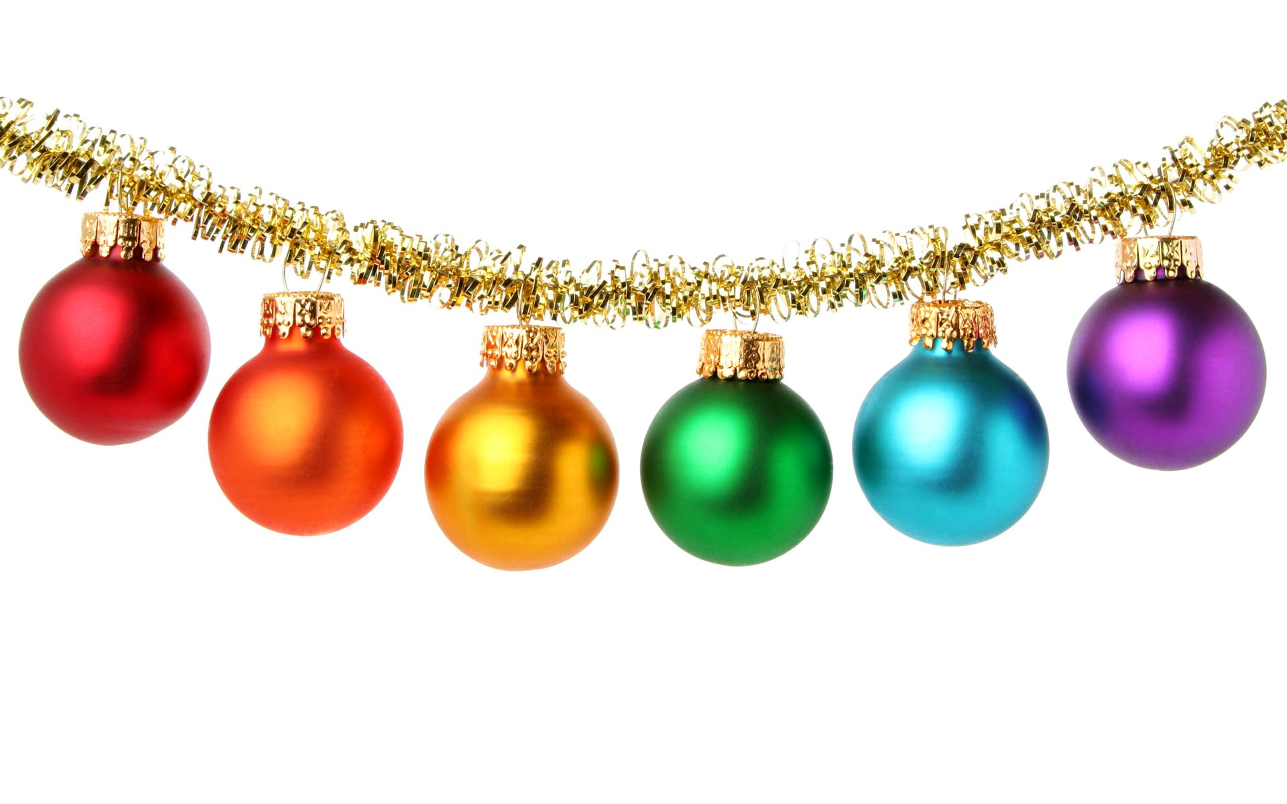 Assorted-color bauble lot hanging HD wallpaper | Wallpaper Flare