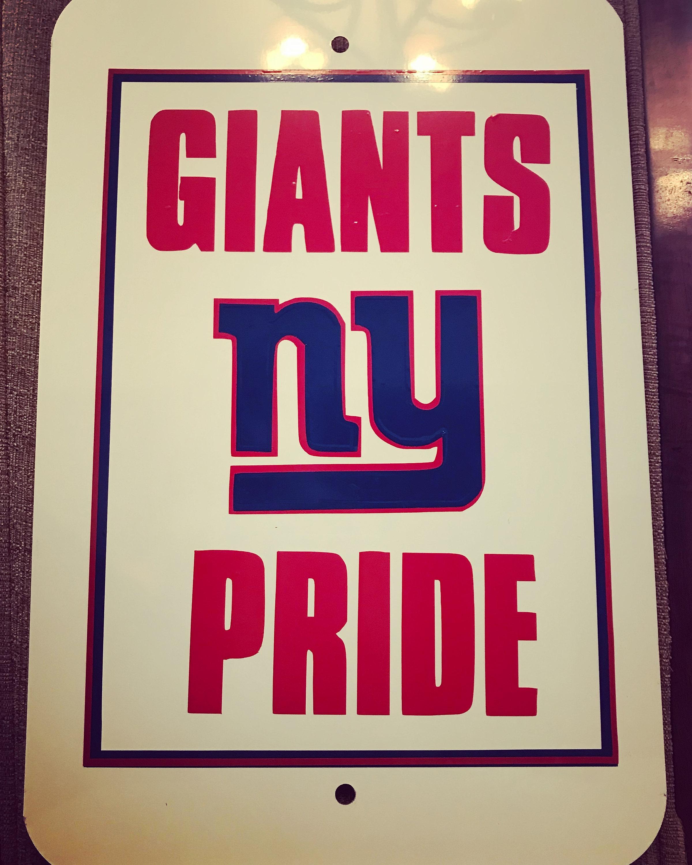 NY Giants Pride Aluminum Sign 12x18