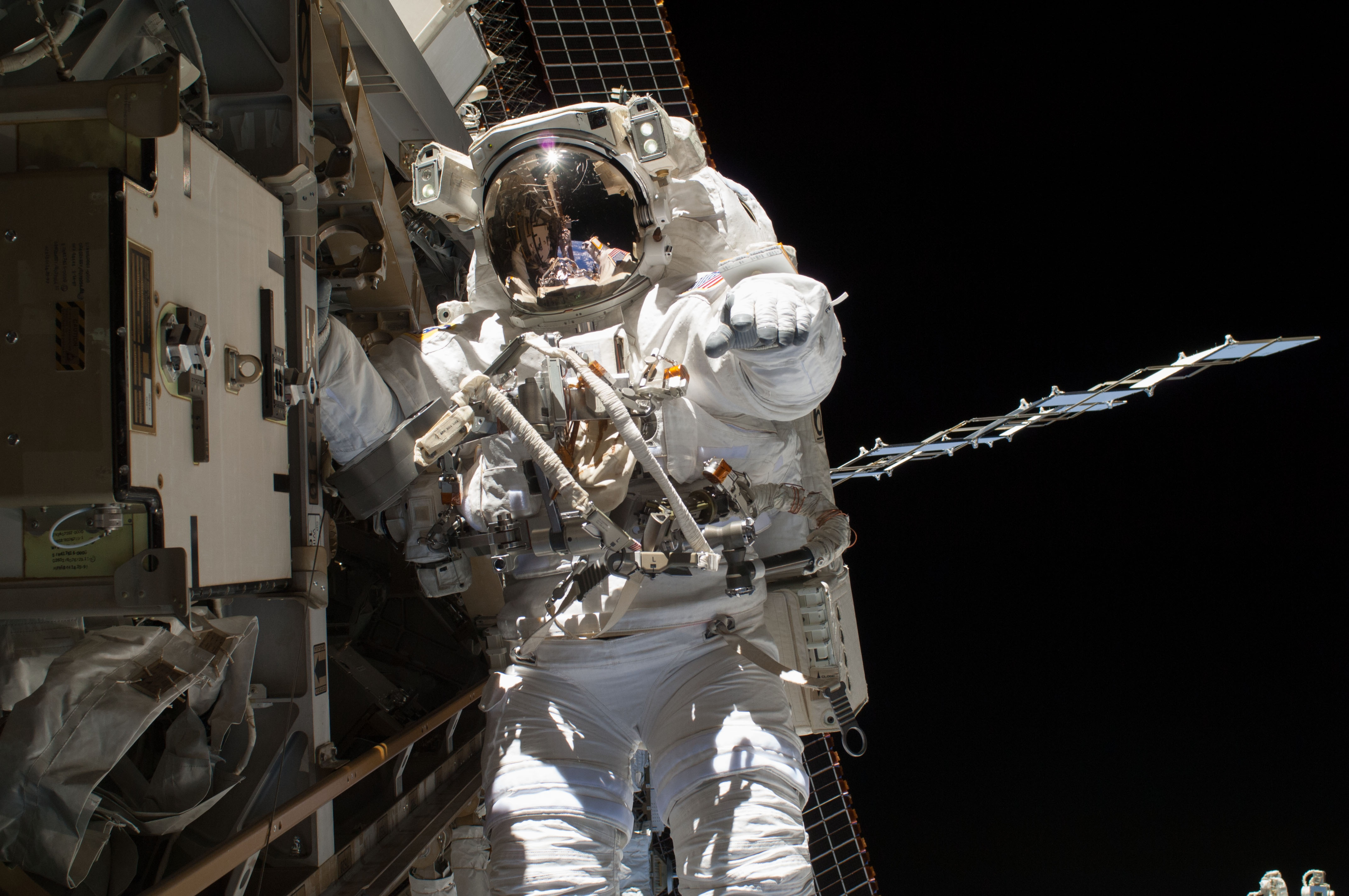 Astronaut in space photo
