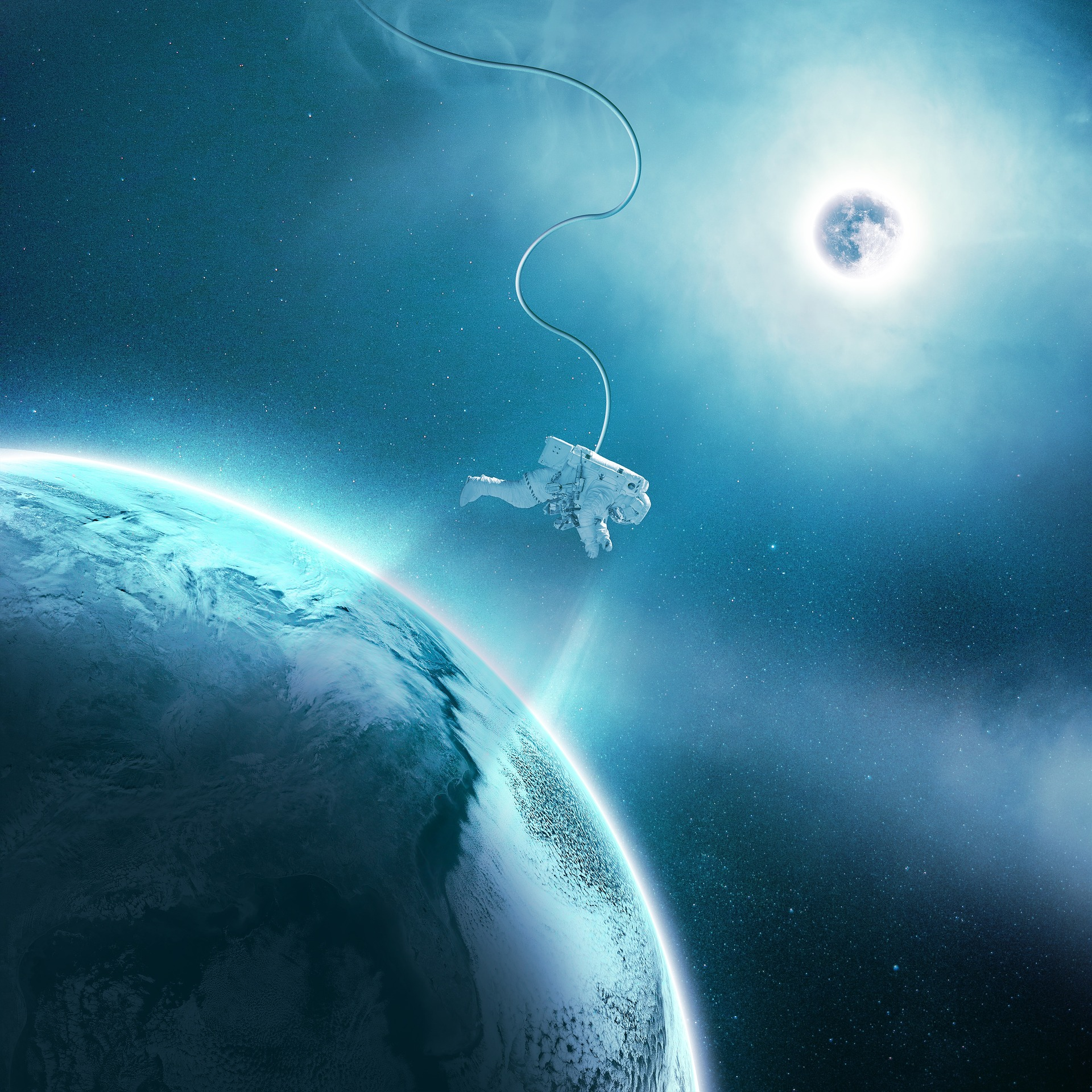Astronaut in Space, Activity, Astronaut, Earth, Gravity, HQ Photo