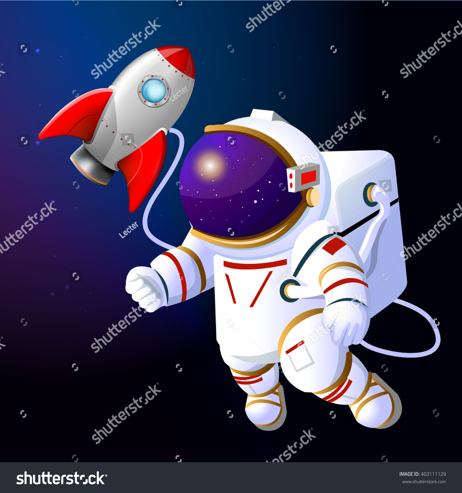 Astronaut Rocket Space Rocket Astronaut Cartoon Stock Vector HD ...