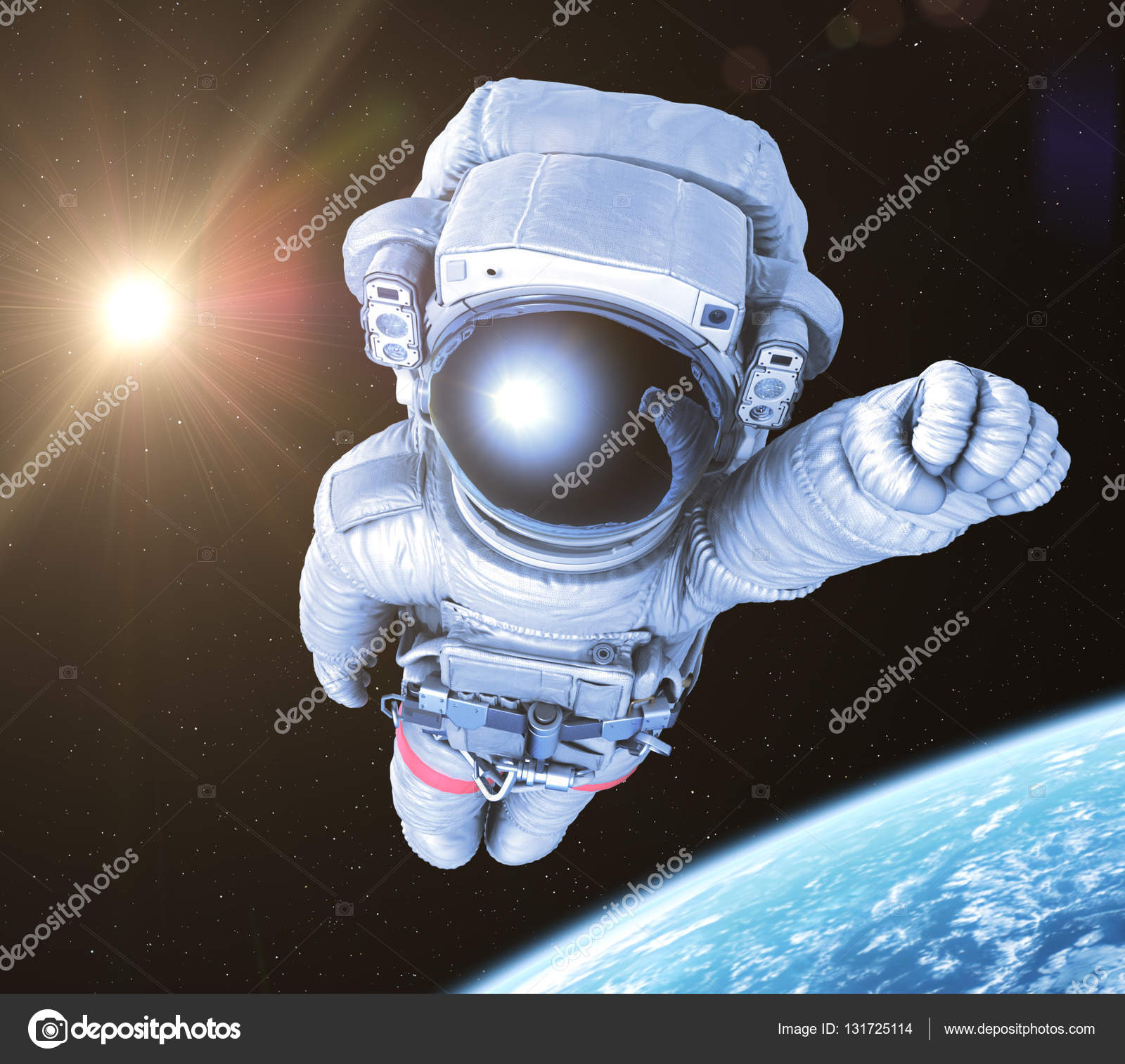 Astronaut in space, 3d render, – Stock Editorial Photo © lexaarts ...