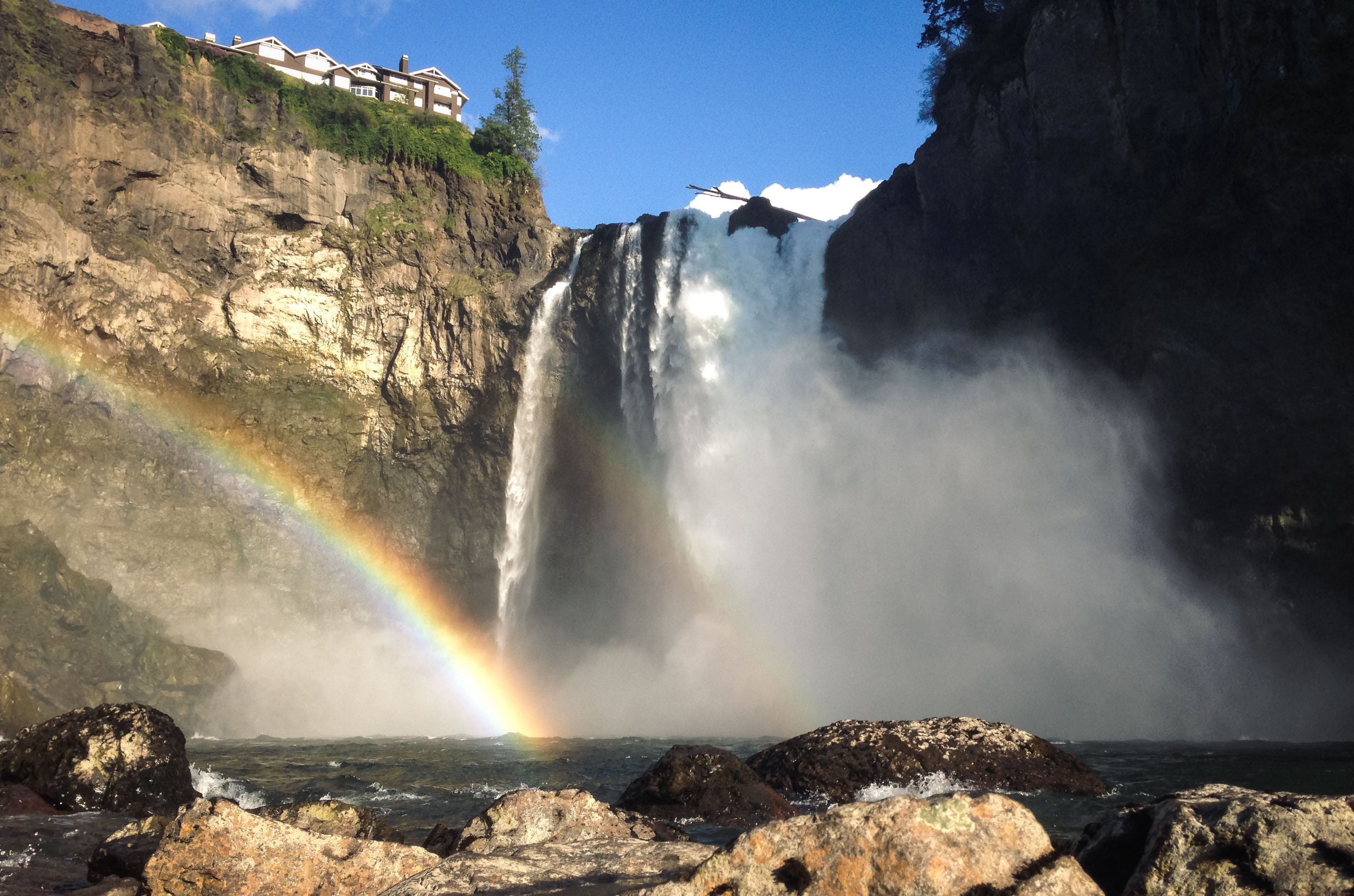 At the base of Snoqualmie Falls, Landscape, Nature, Outdoor, River, HQ Photo