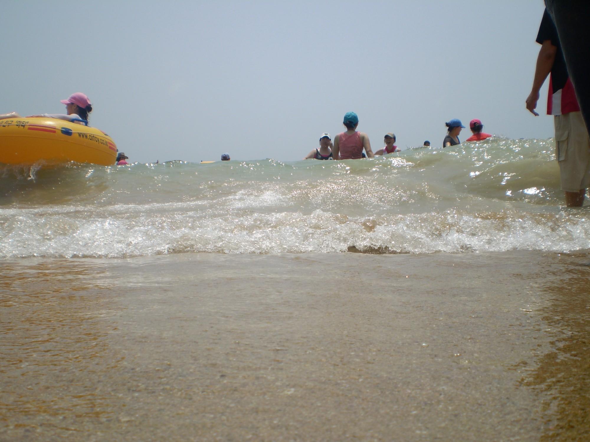 At the beach, Beach, Blue, Children, Enjoy, HQ Photo