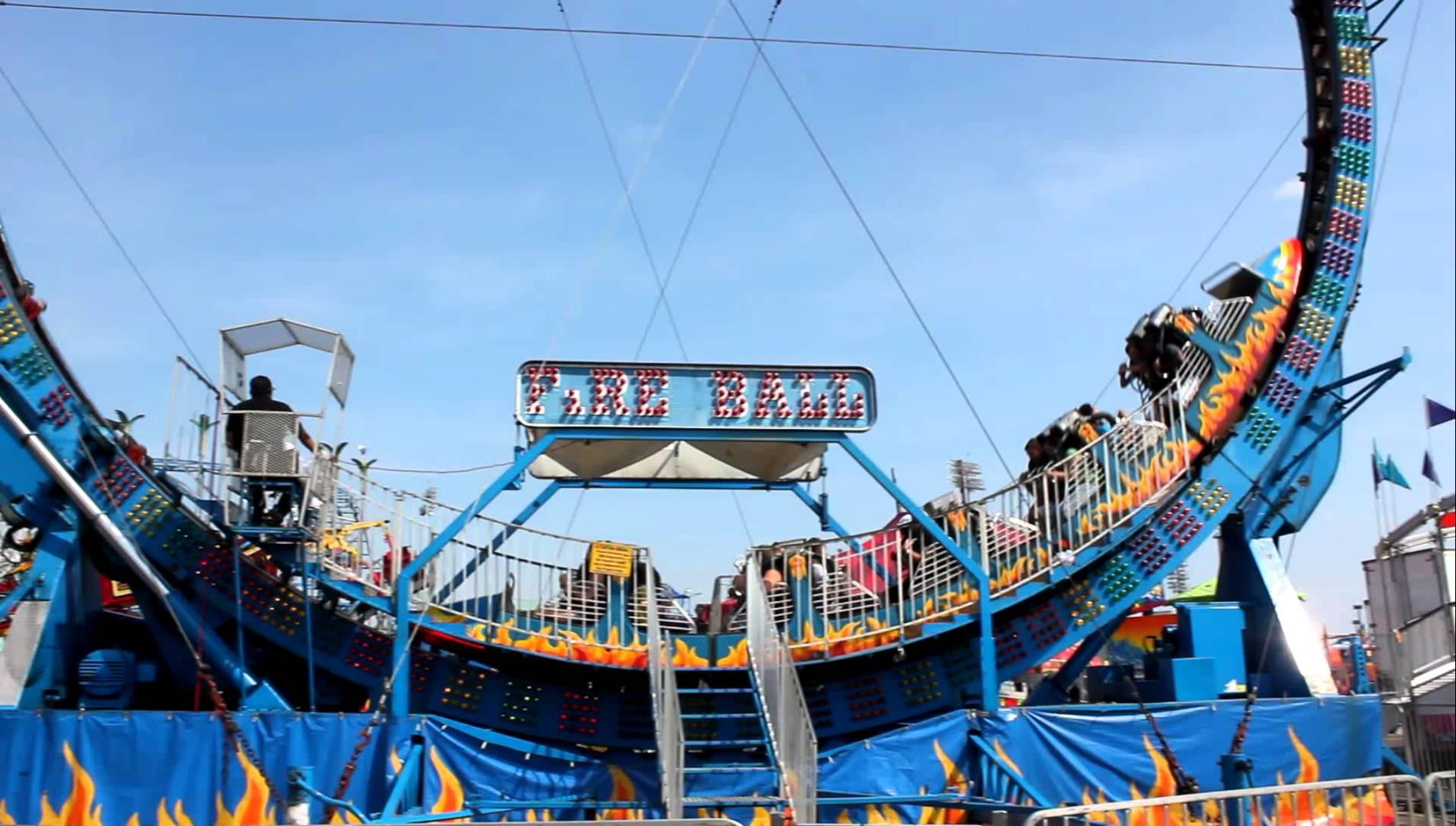 Fire Ball ride at the fair - YouTube