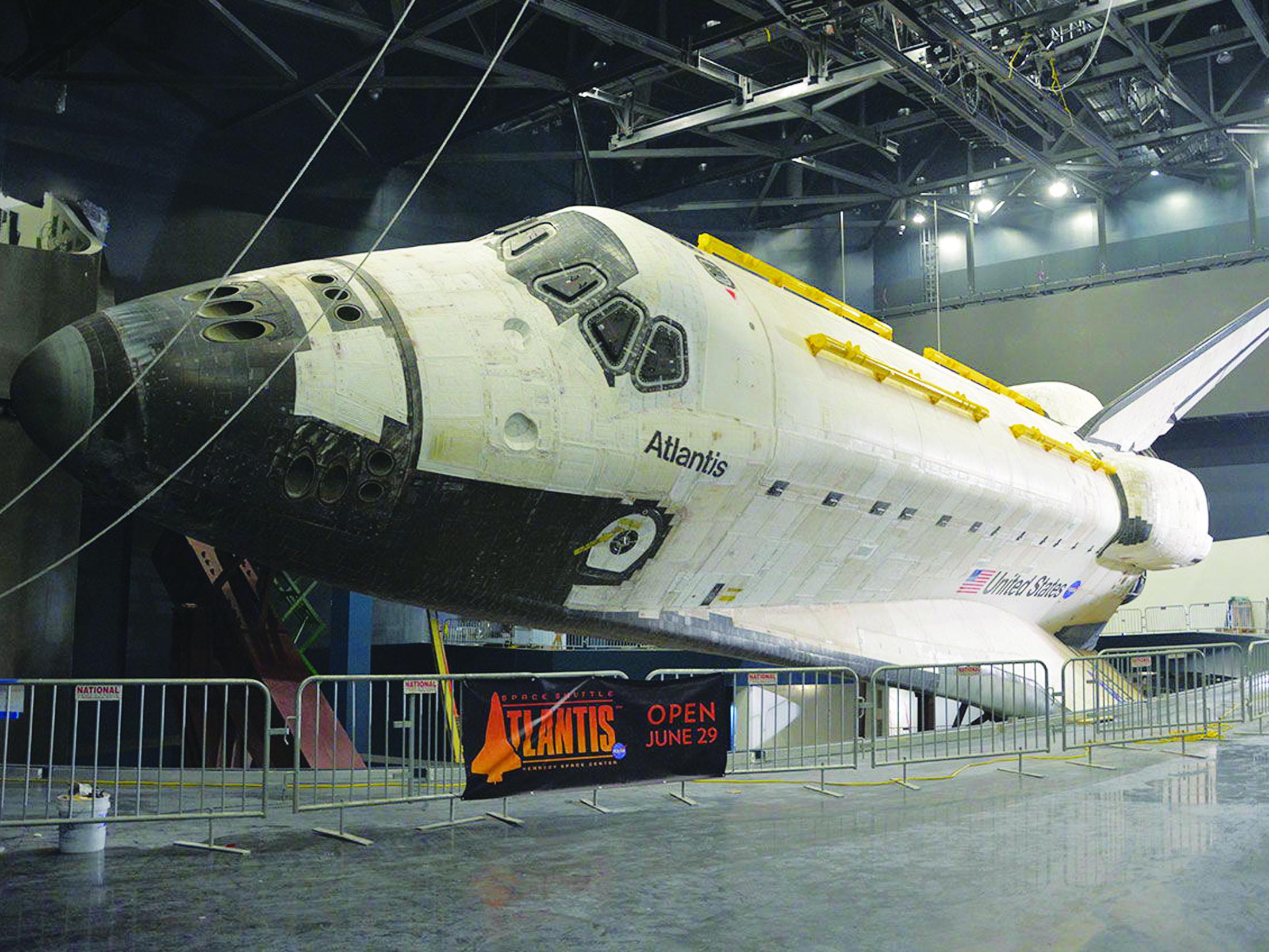 Space Shuttle Atlantis Fully Unwrapped for NASA Exhibit - SpaceNews.com