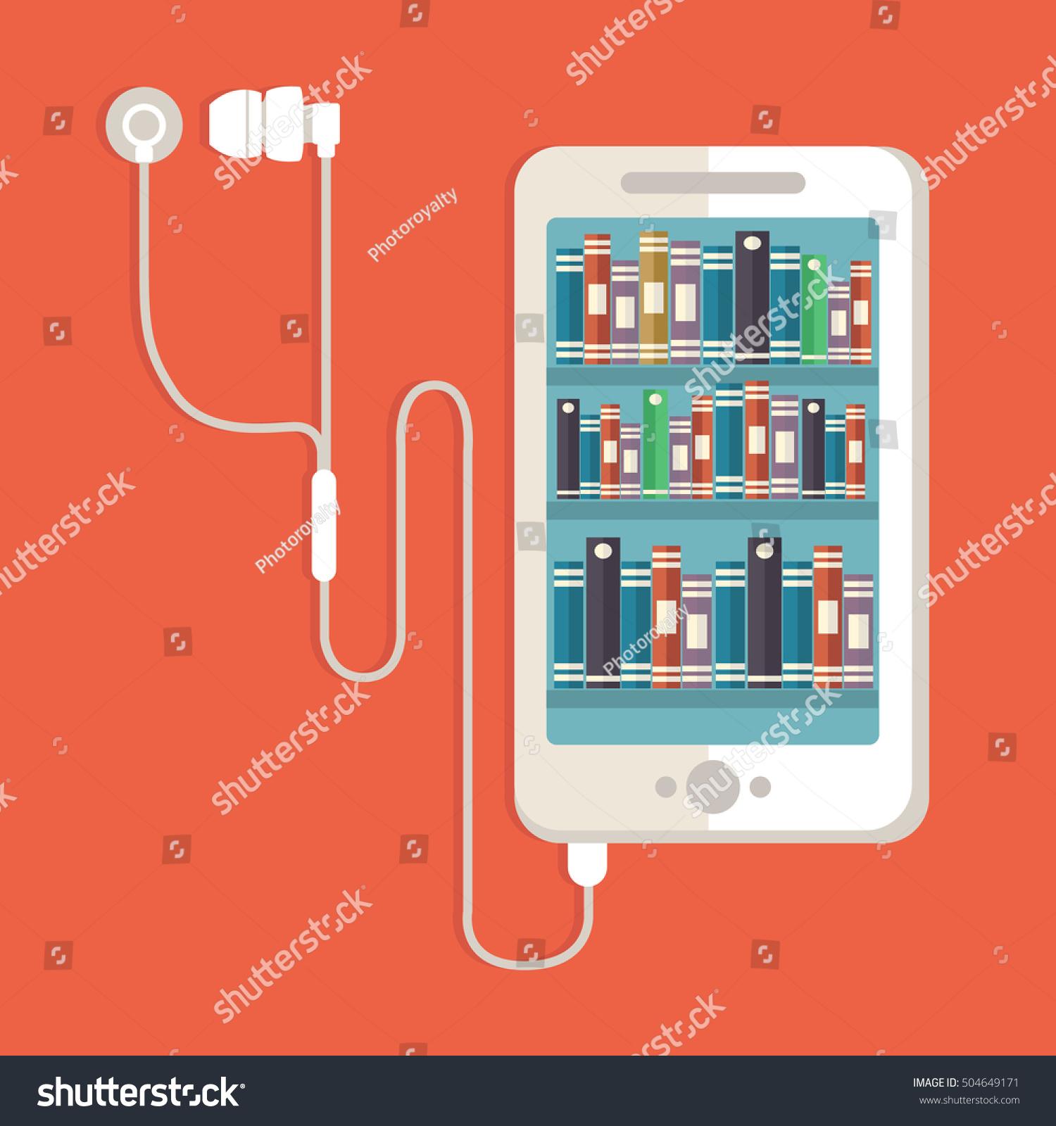 Audio Book Concept Vector Illustration Book Stock Vector 504649171 ...