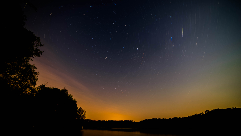 Aurora light trails. photo